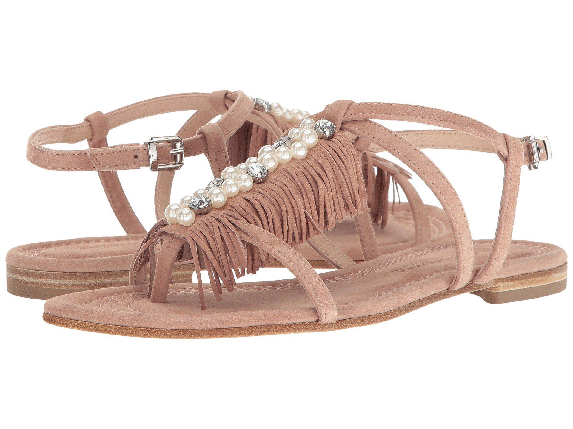 ed543d903 Lyst - Kennel   Schmenger Pearl Fringe Flat Sandal - Save 25%