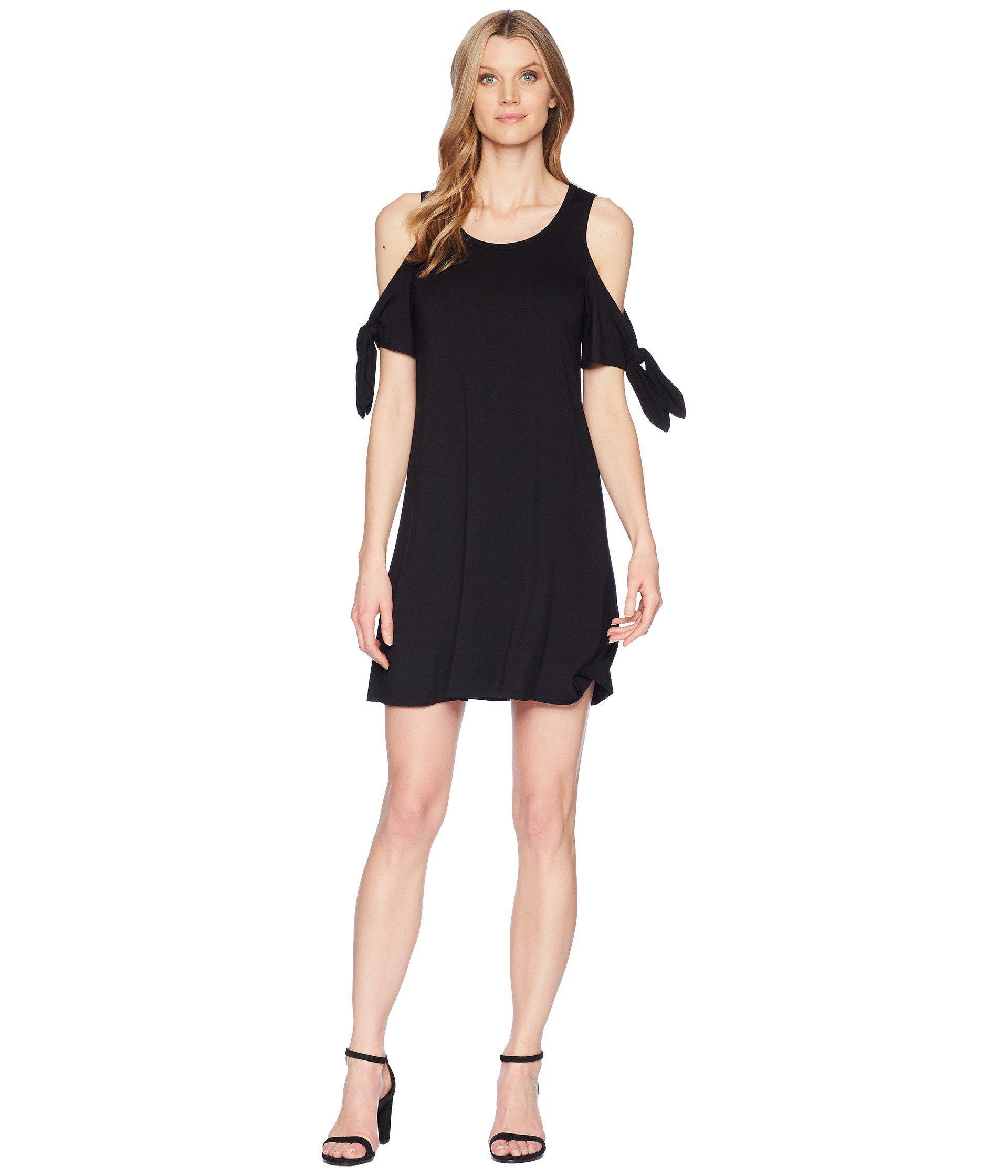 c848753bb1c Lyst - Karen Kane Cold Shoulder Knot Dress in Black - Save ...