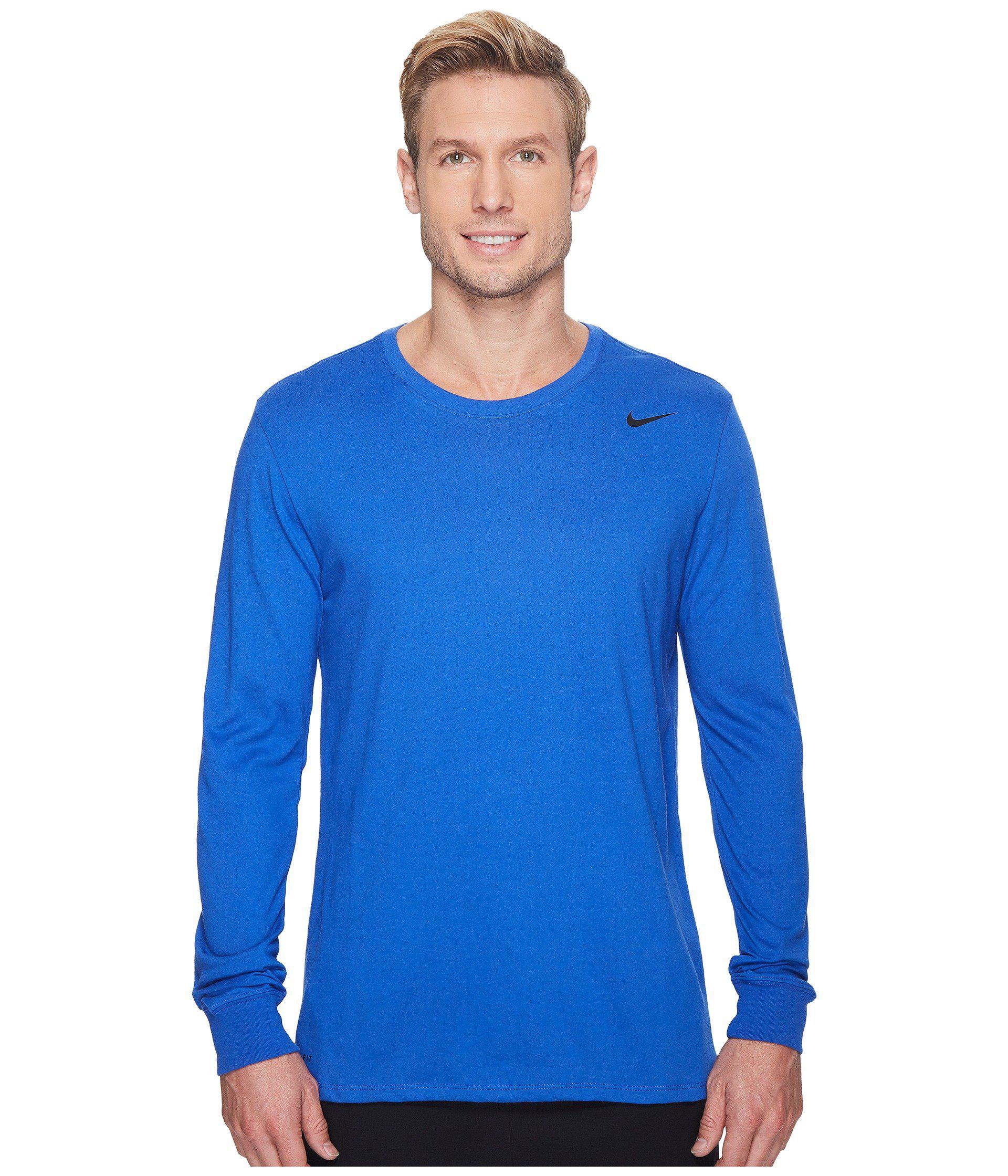 58e0e19926d Lyst - Nike Long-sleeve Dri-fit Legend Training Tee in Blue for Men ...