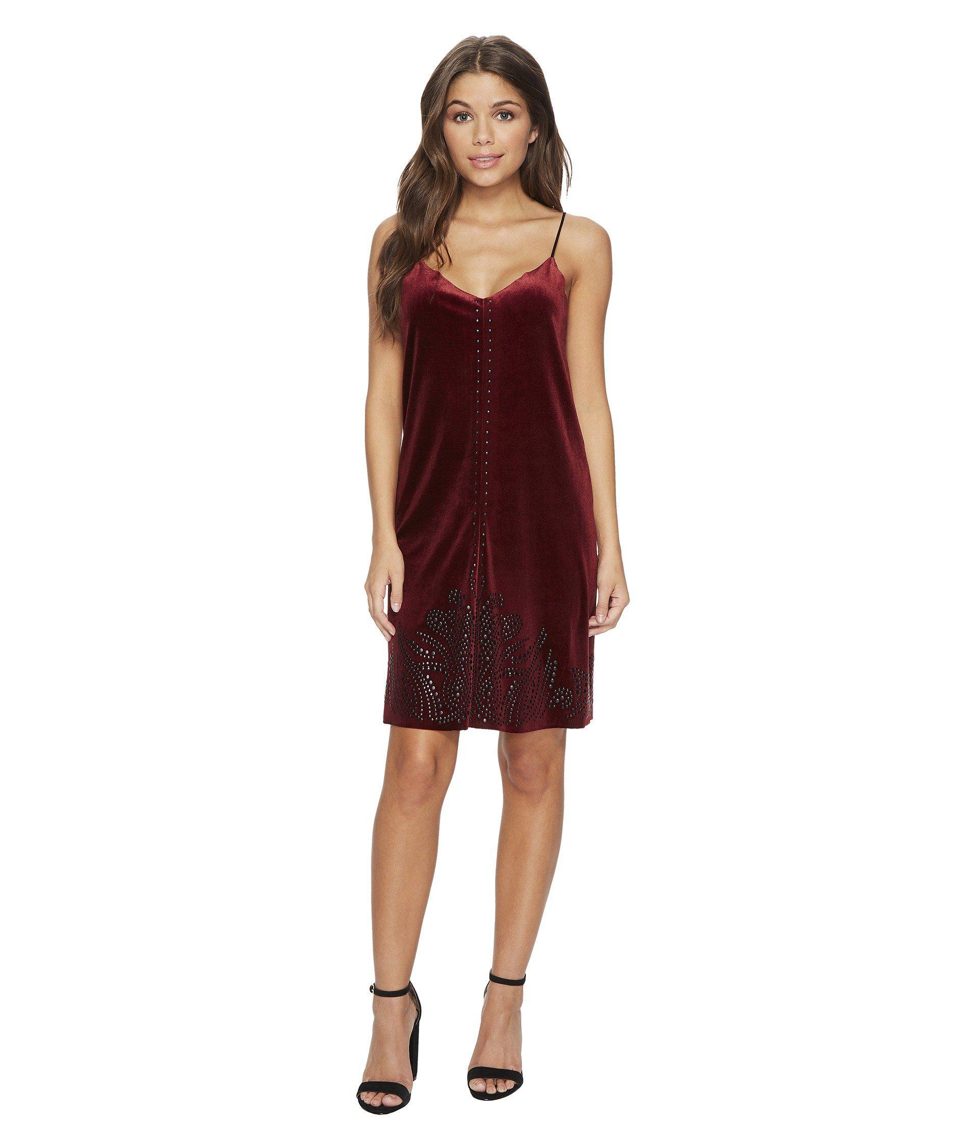 Lyst - Blank Nyc Velvet Dress In Velvet Rope in Red - Save 61%