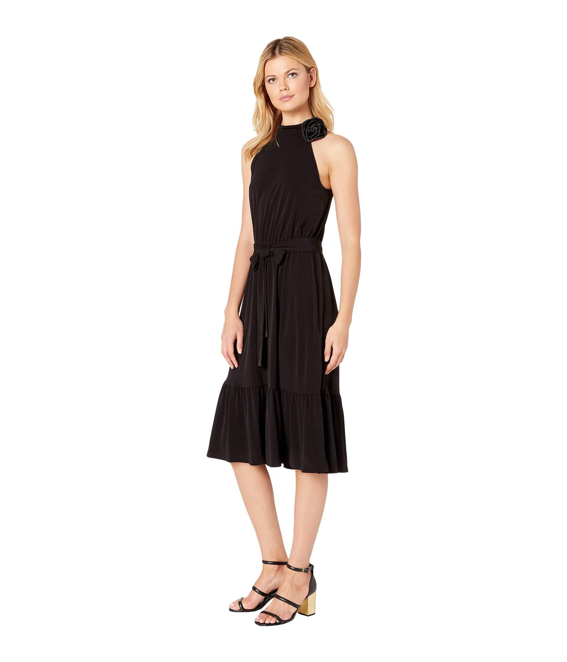 8ccfcd1a3b16 Lyst - MICHAEL Michael Kors Halter Neck Midi Dress in Black - Save 15%