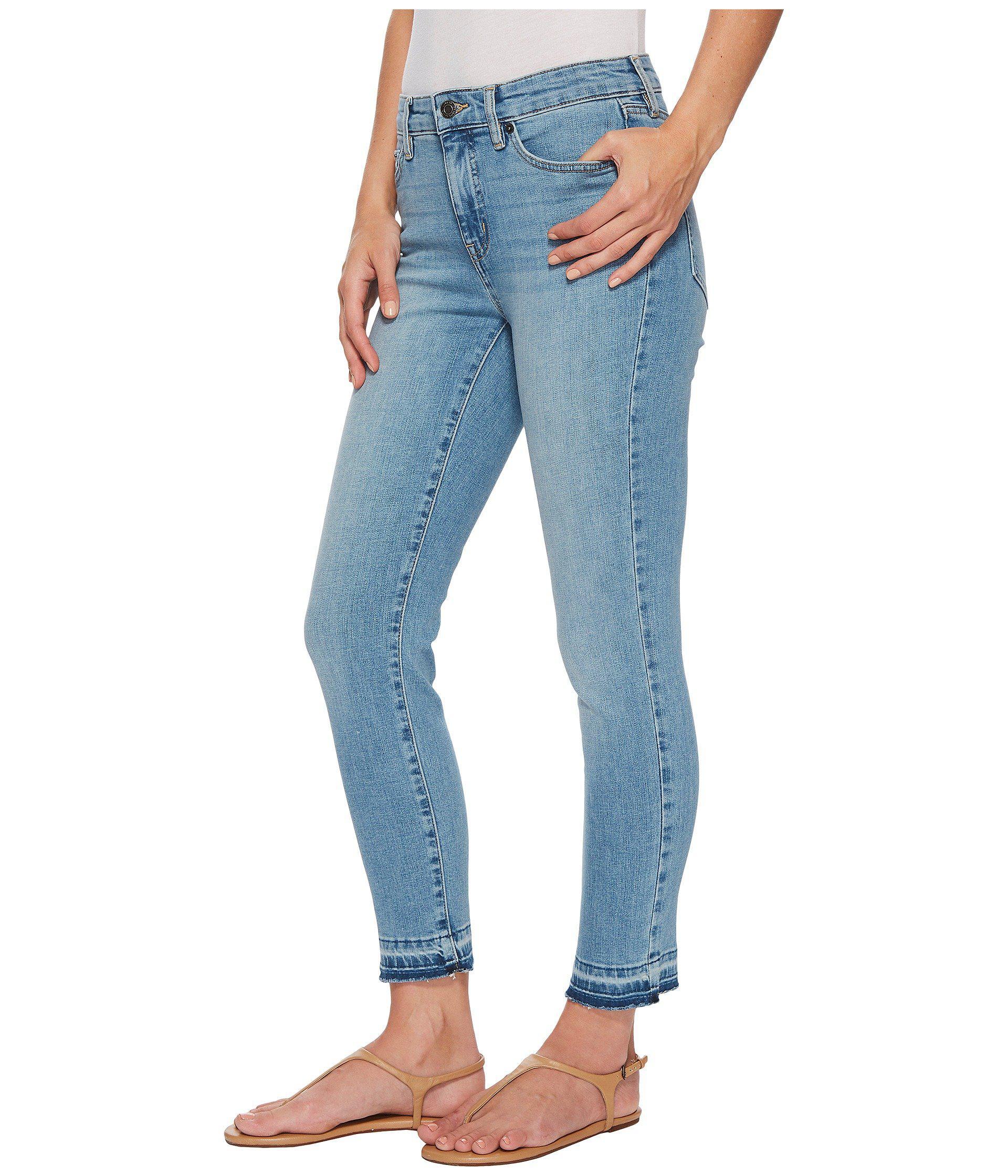 e02a3dd9df27a Lyst - Lauren by Ralph Lauren Premier Straight Crop Jeans in Blue - Save 51%
