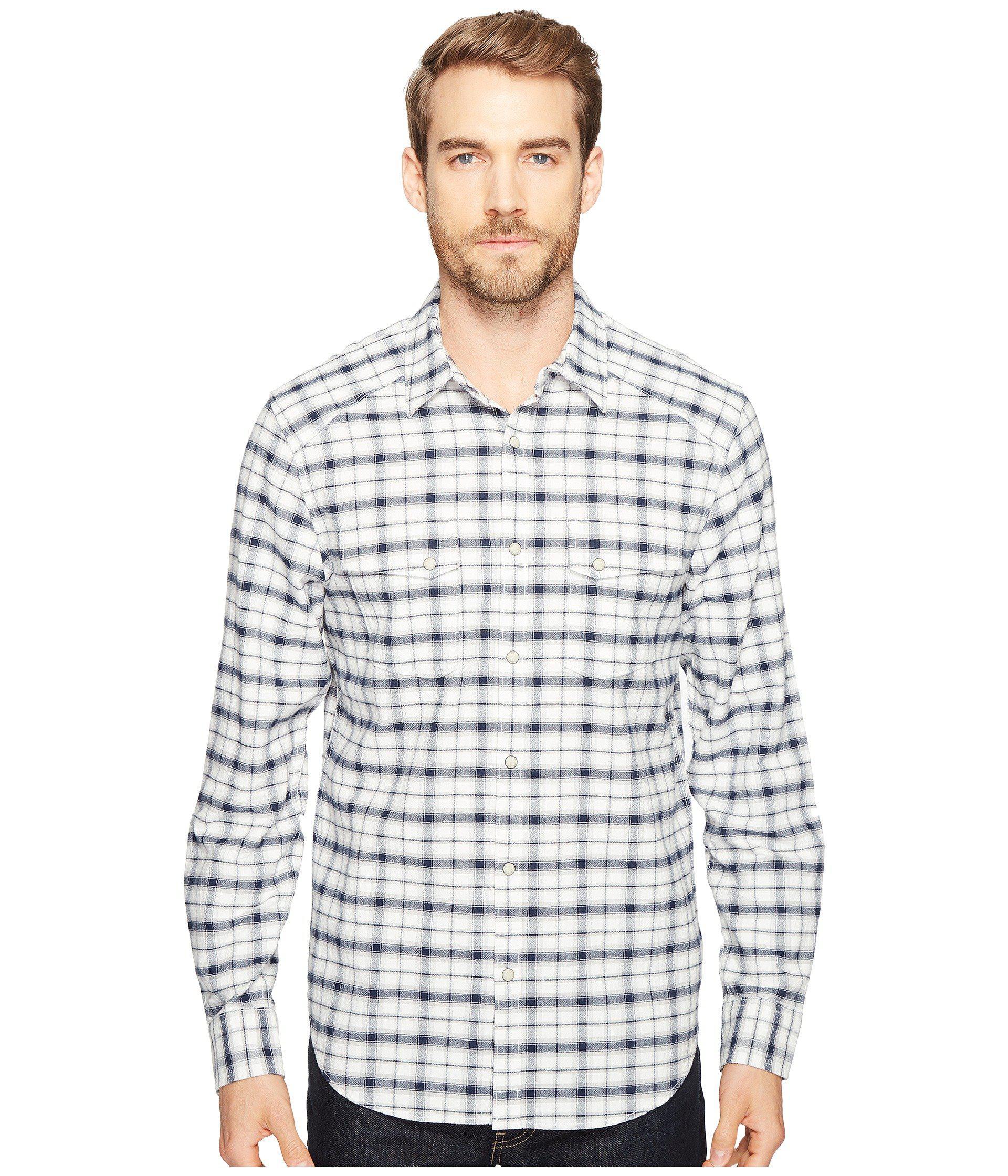 76294b605508 Lyst - Lucky Brand Martin Western Shirt in Blue for Men