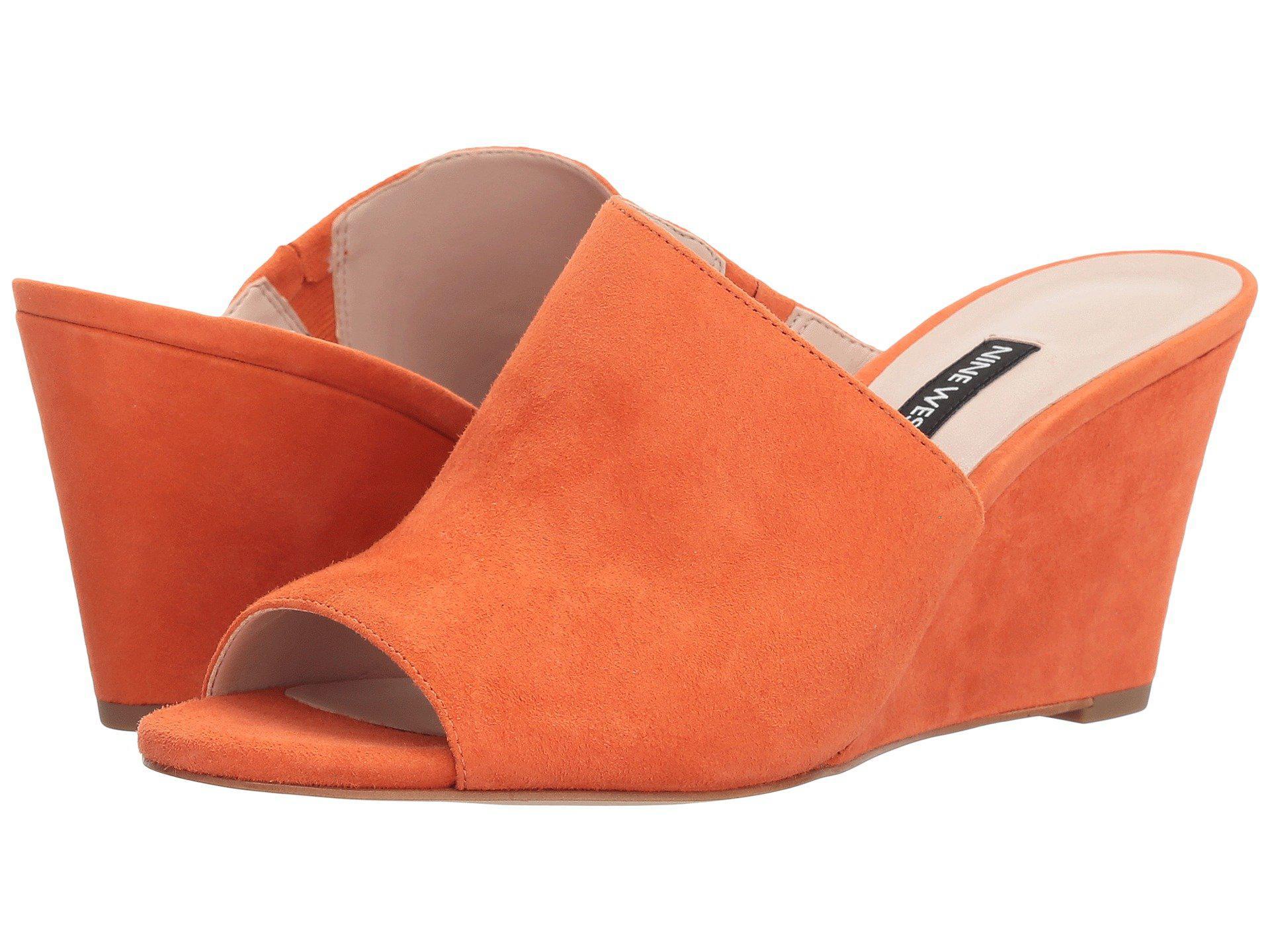 285064045dd1 Lyst - Nine West Janissah Slide Sandal in Orange - Save 23%