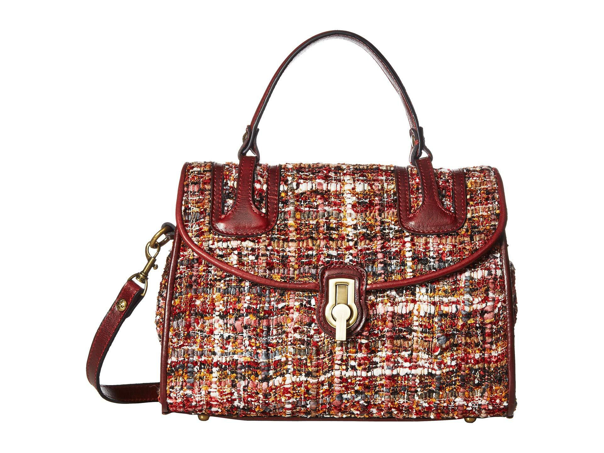 dc3e37b17a62 Lyst - Patricia Nash Stintino Satchel in Red - Save 19%