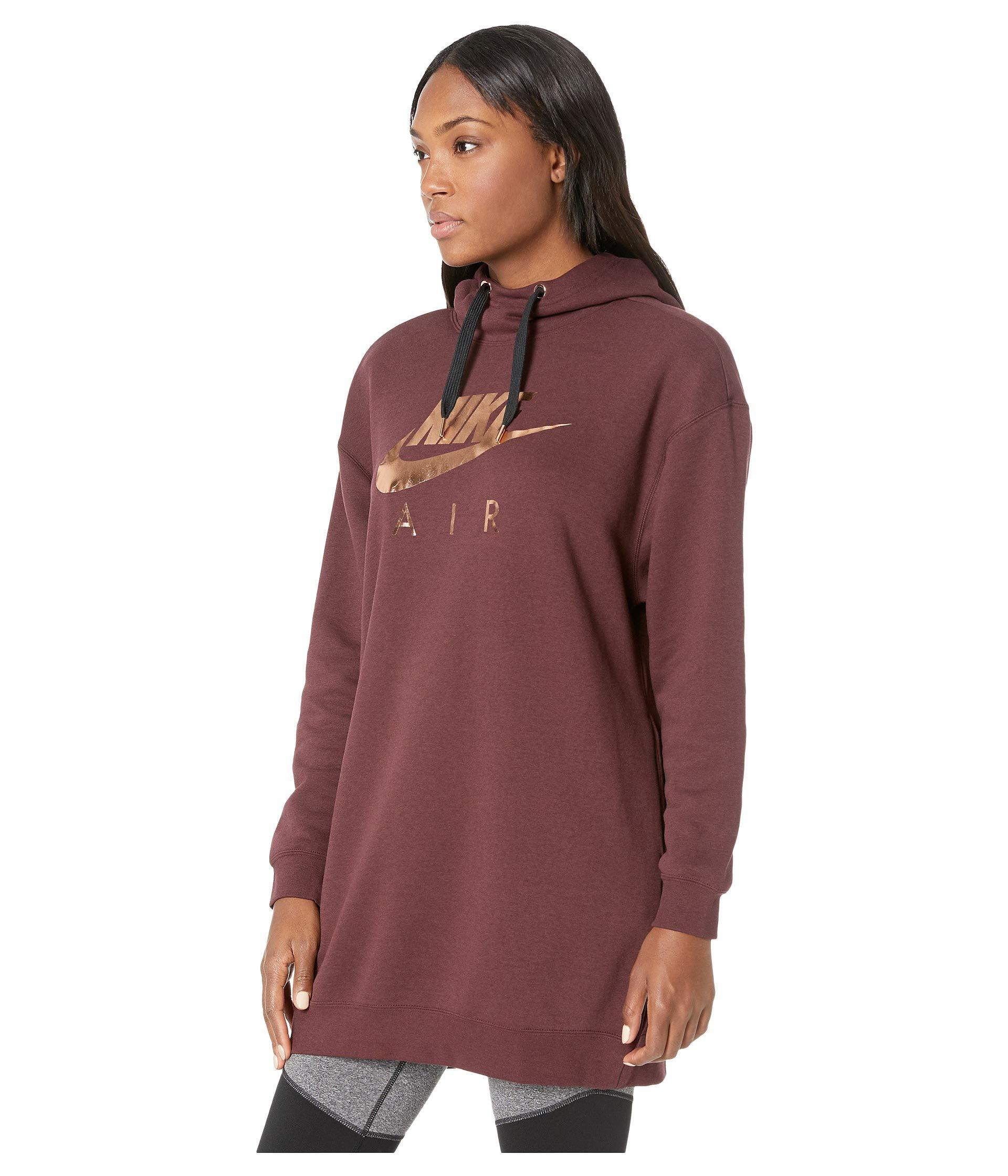 6e737148fe Lyst - Nike Sportswear Air Hoodie Oversize in Red - Save 25%