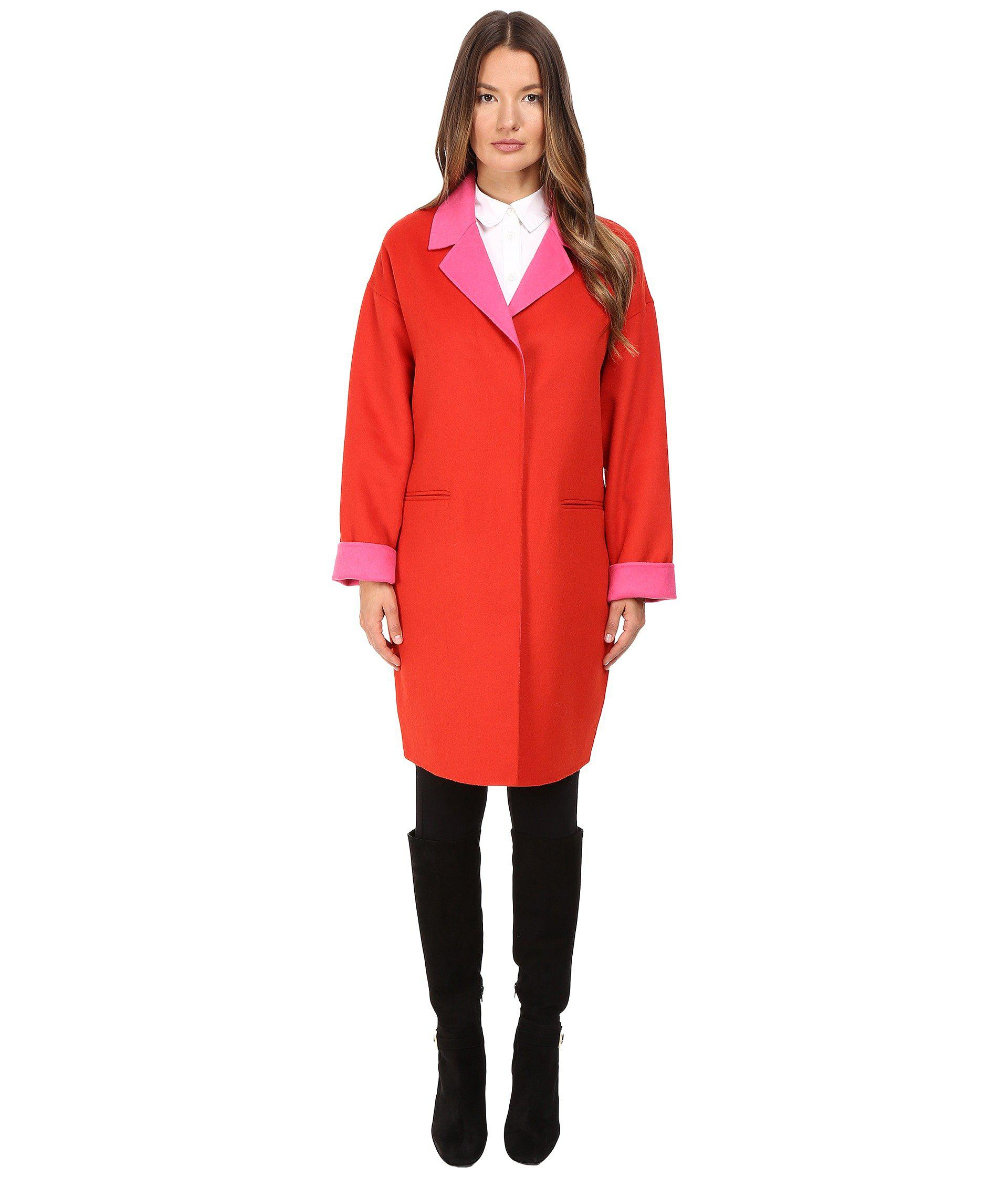 Lyst - Kate Spade Single Breasted Hidden Button Peacoat 36