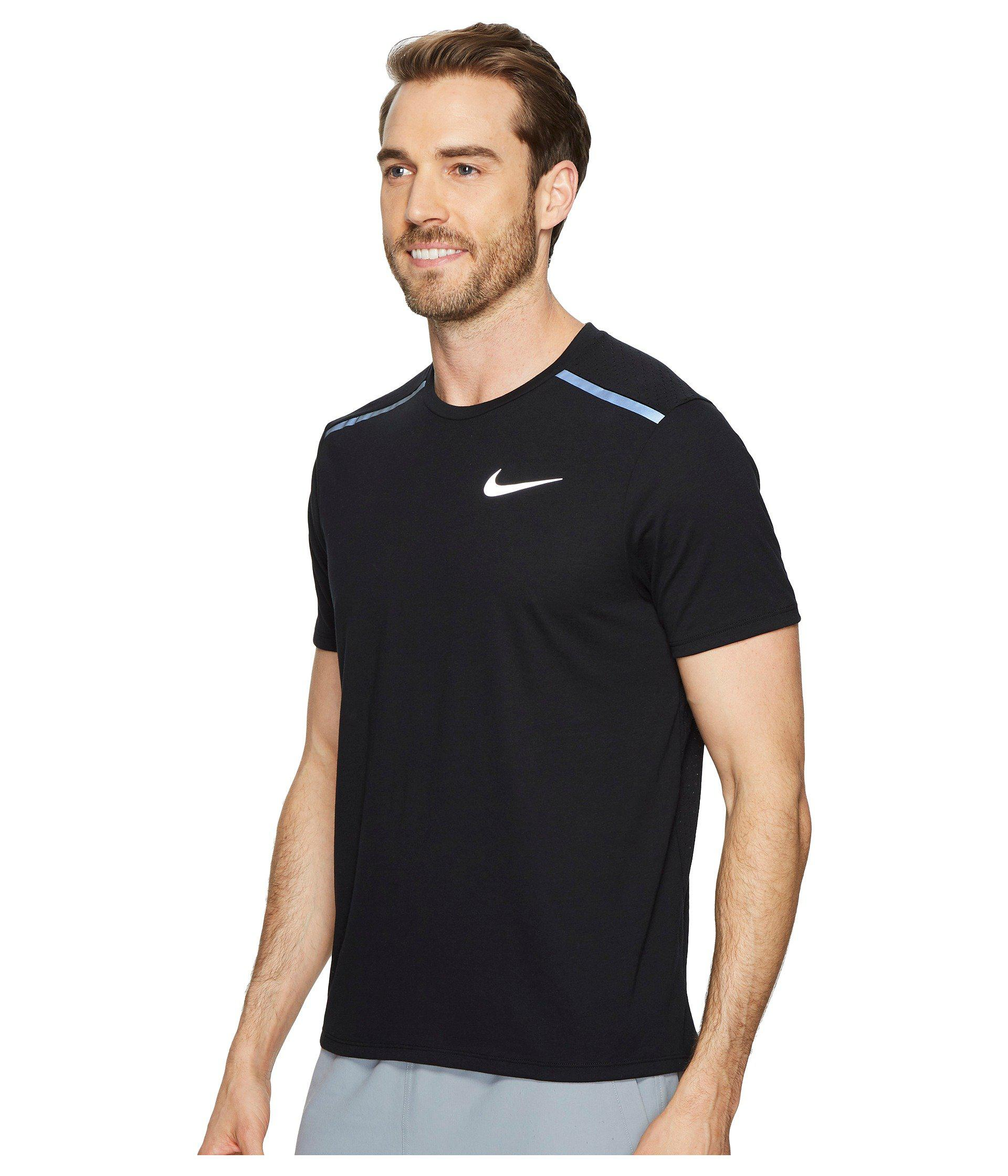 ddb4c9ed17 Lyst - Nike Tailwind Short-sleeve Running Top in Black for Men - Save 27%