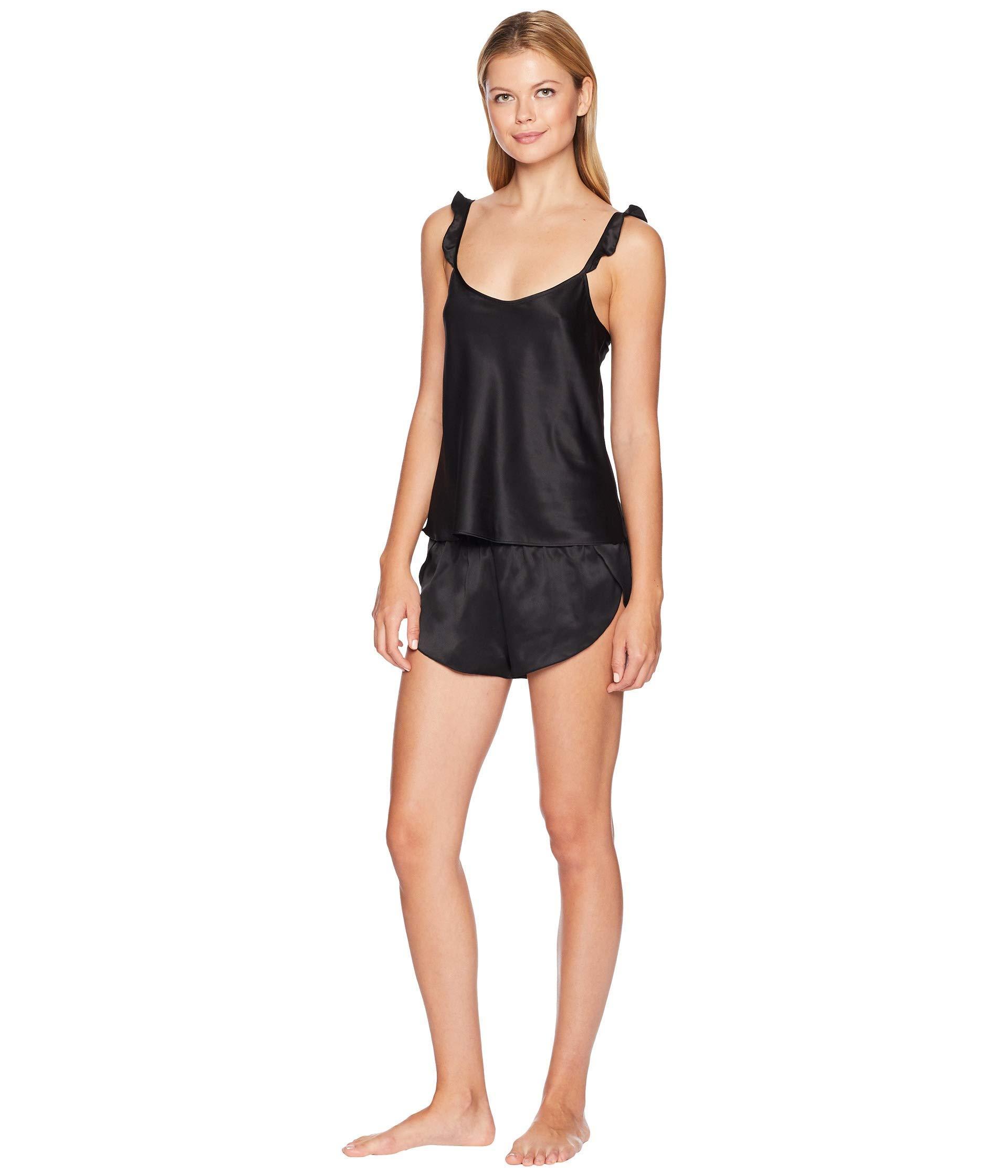 Lyst - Felina Robyn Satin Cami And Shorts Set in Black b6516527b