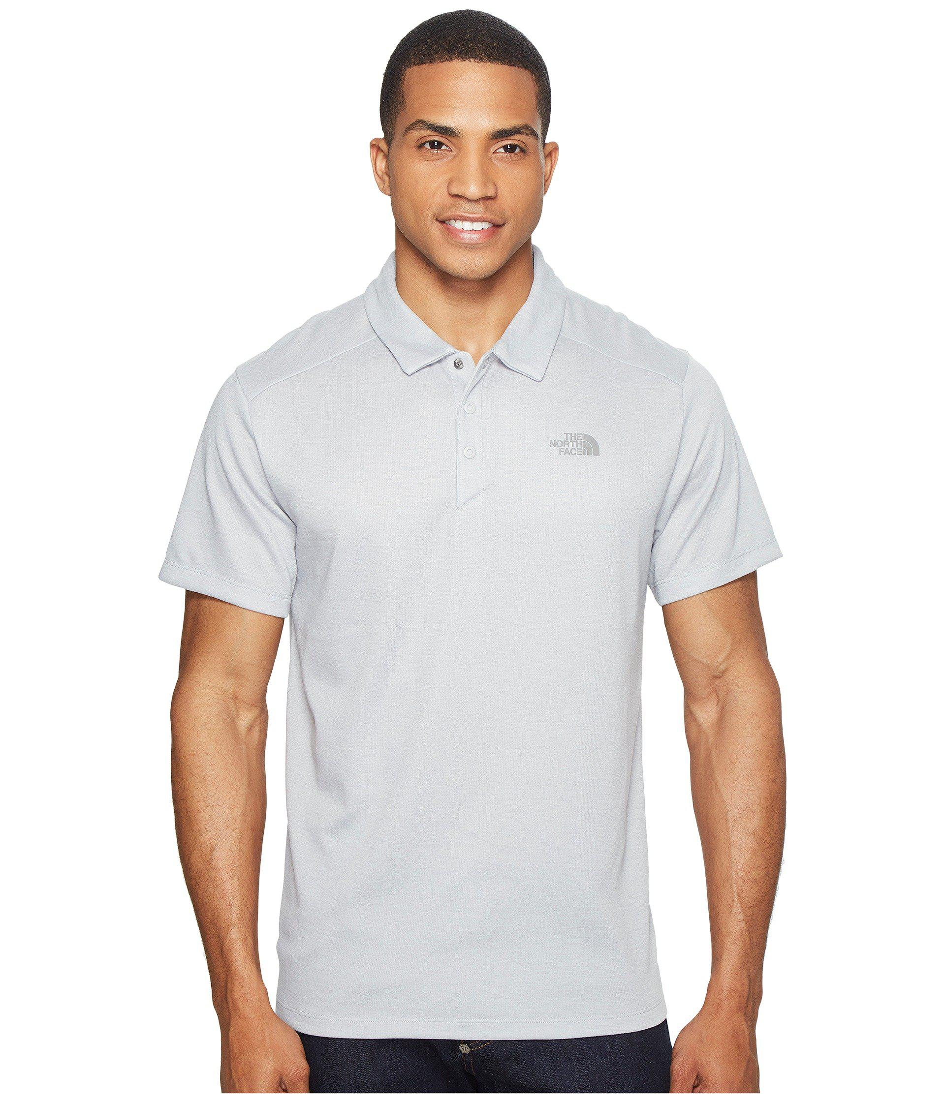 8f2ef7635 Lyst - The North Face Short Sleeve Crag Polo in Gray for Men
