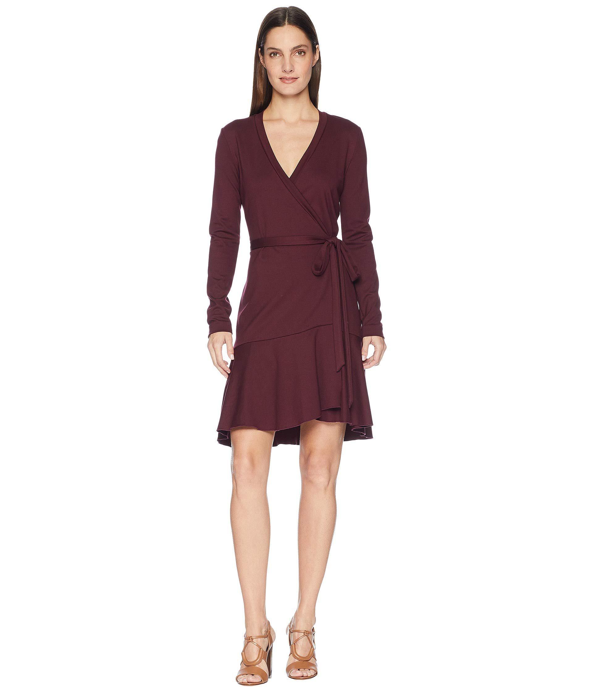 def34dc2bb9 Lyst - Nicole Miller Wrap Dress in Purple - Save 44%