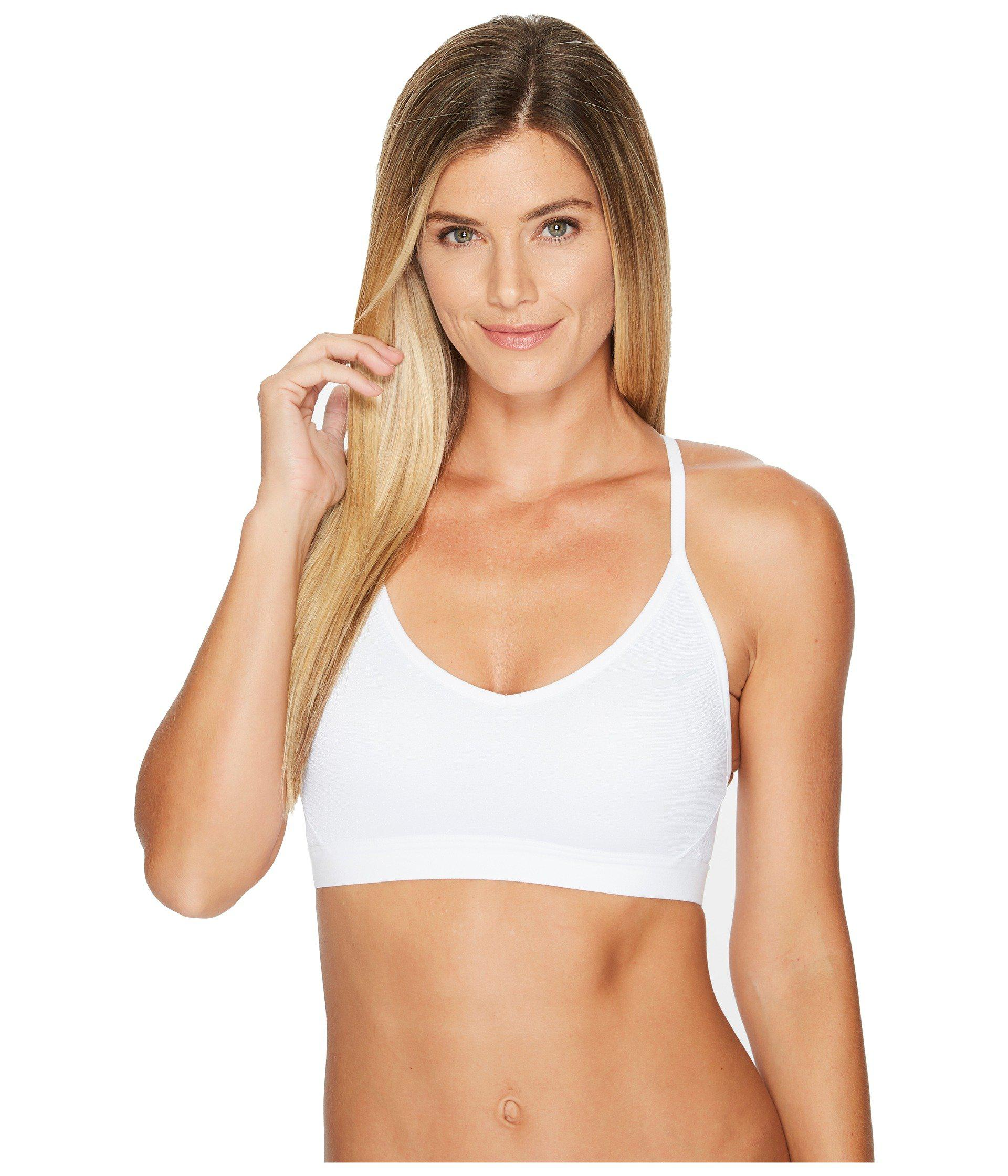 5f7d1df09d816 Lyst - Nike Indy Sparkle Light Support Sports Bra in White