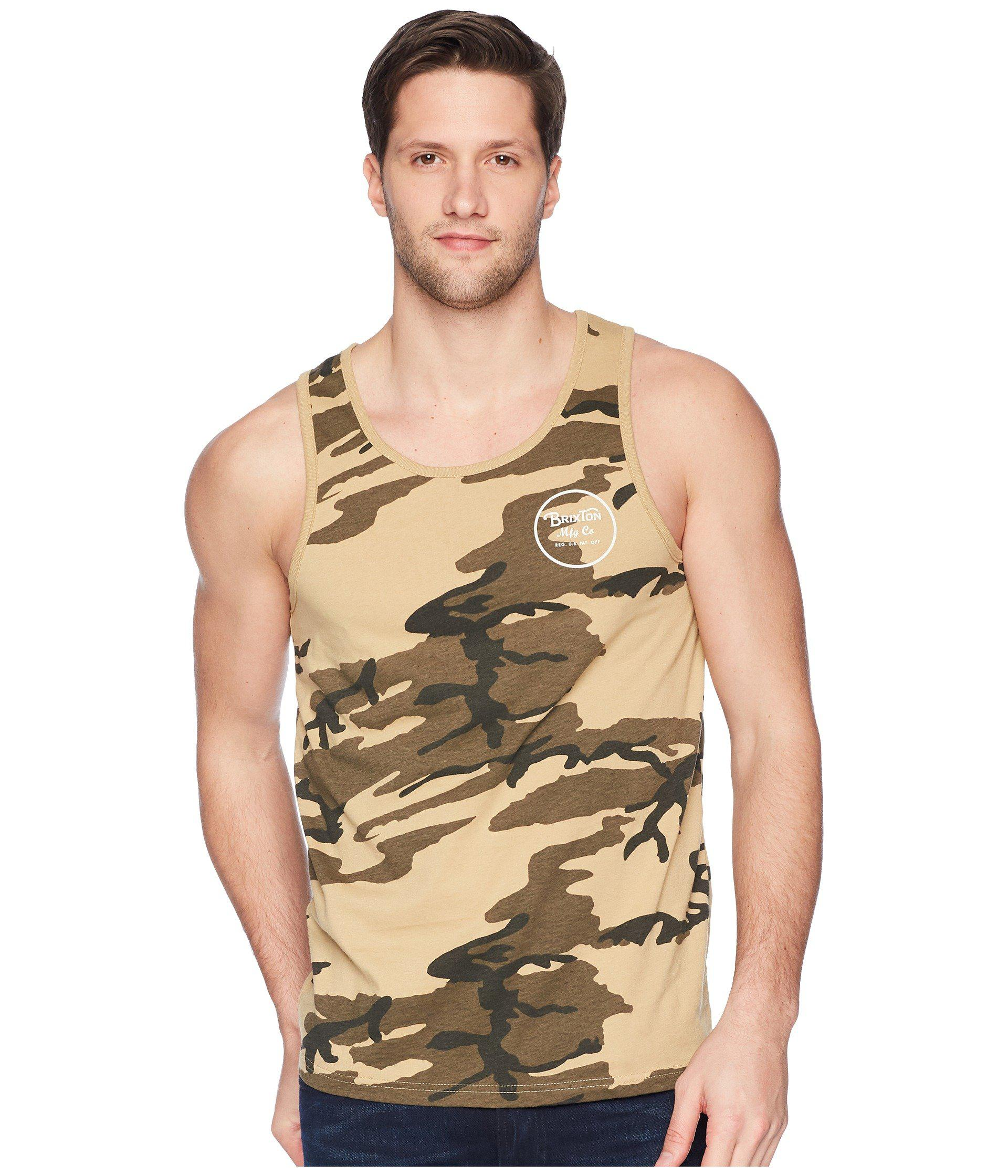 5289833a9e949 Brixton - Multicolor Wheeler Tank Top for Men - Lyst. View fullscreen