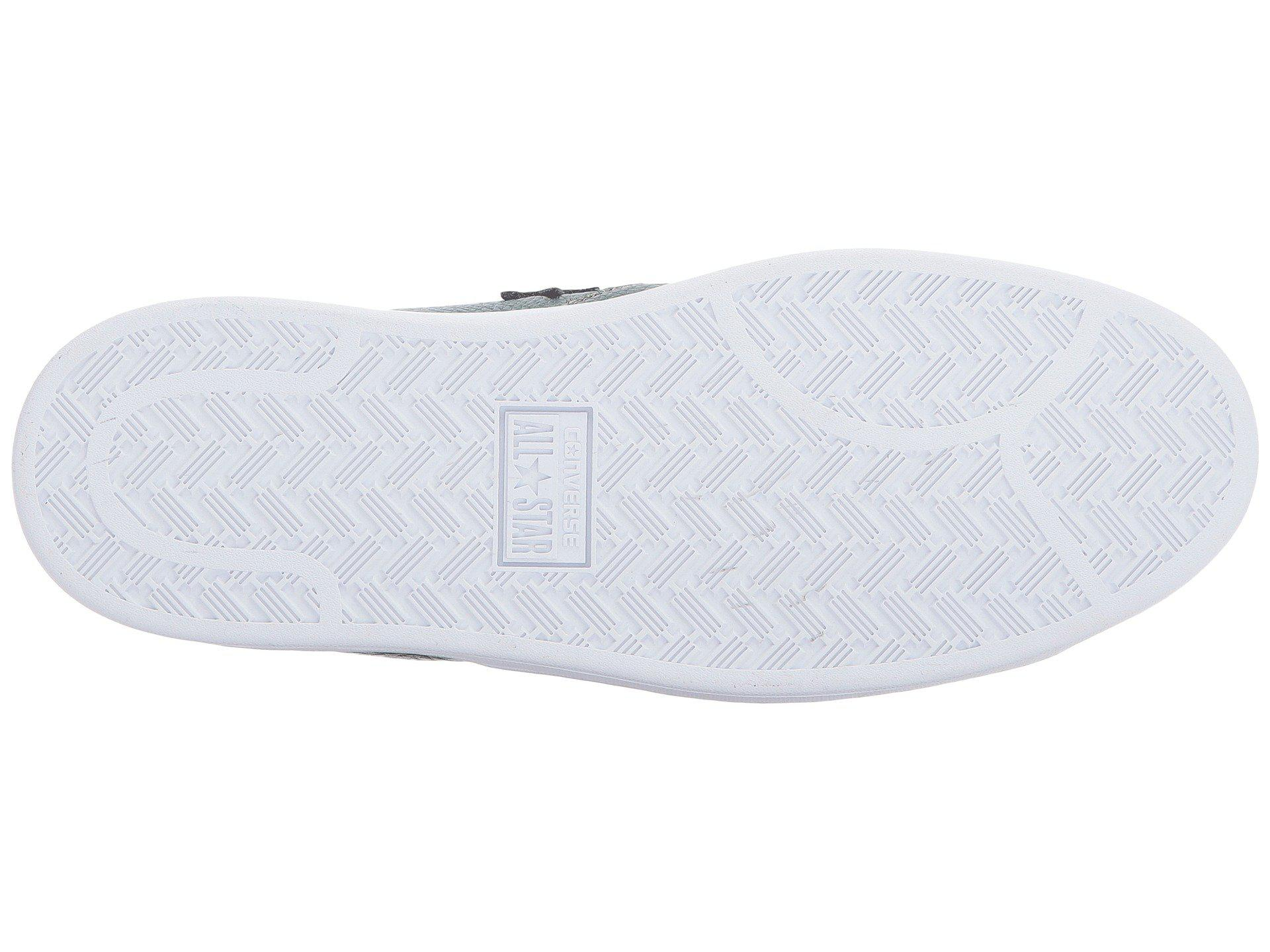 7714159ba83 Lyst - Converse Pro Leather Lp Iridescent Leather Ox in White