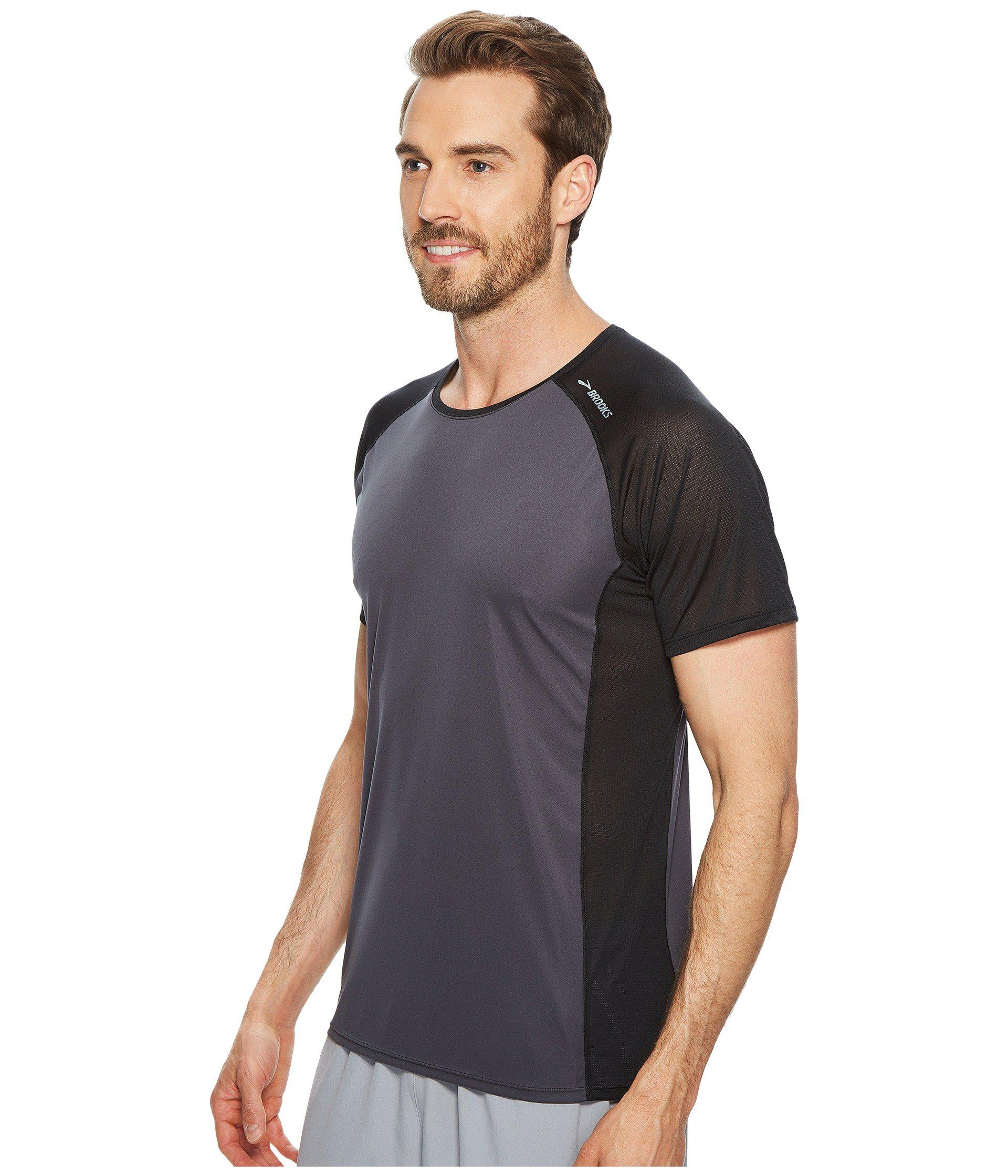 ea0e3f0e965c43 Lyst - Brooks Stealth Short Sleeve in Black for Men - Save 10%