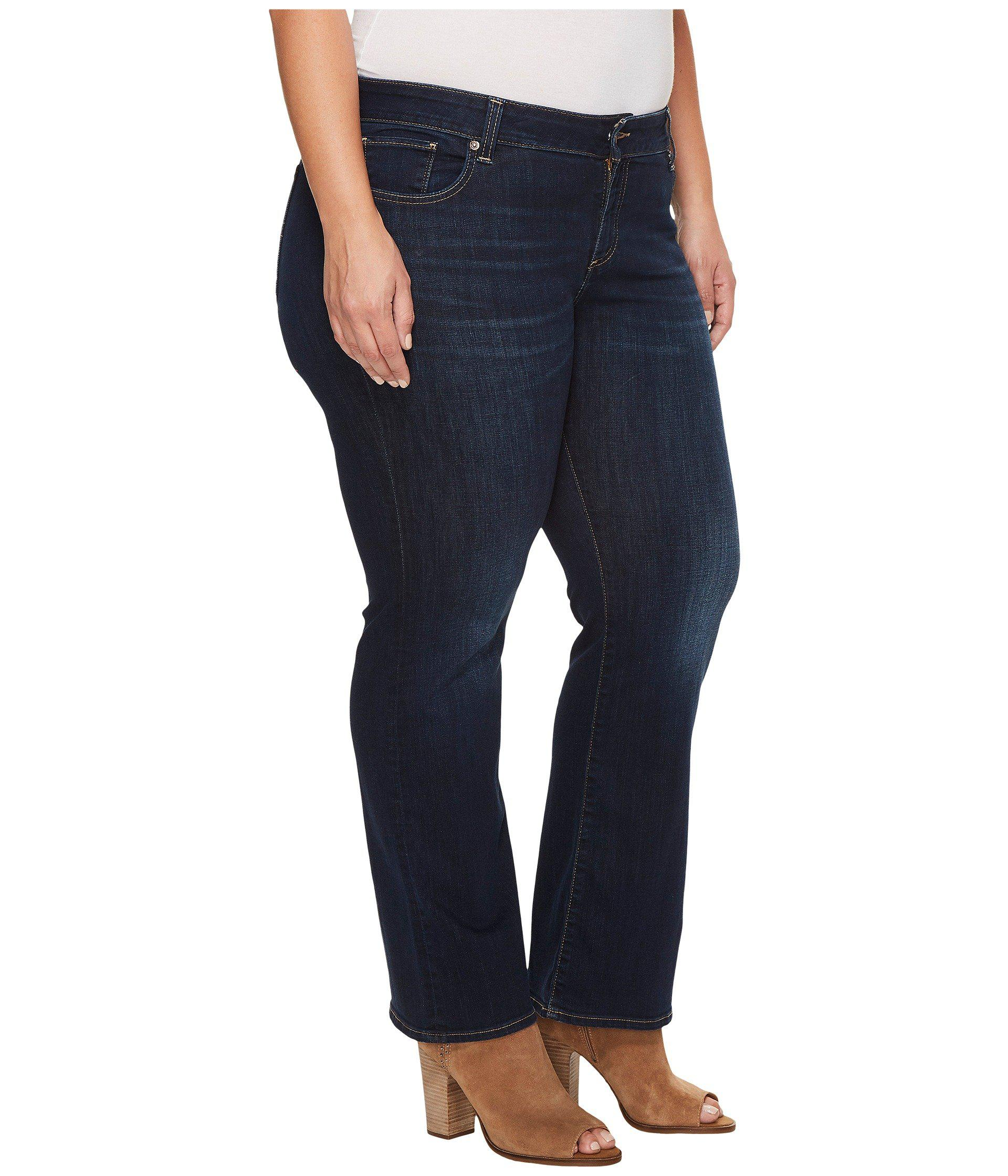 3d7f11784ca Lyst - Lucky Brand Plus Size Ginger Bootcut Jeans In Twilight Blue ...