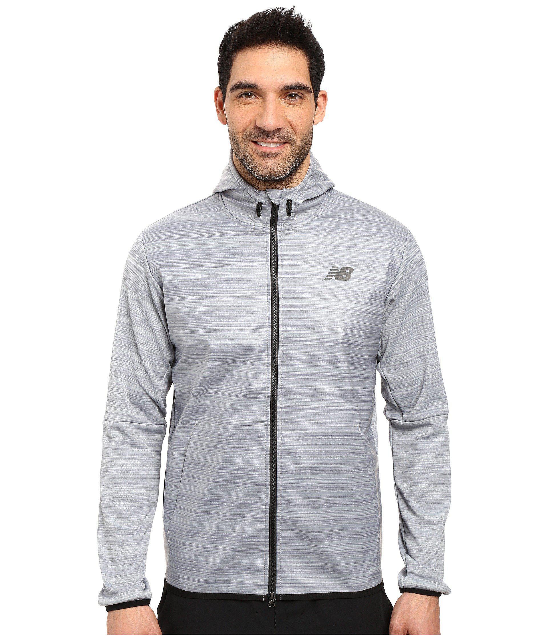 55fa501402833 New Balance Kairosport Jacket in Gray for Men - Lyst