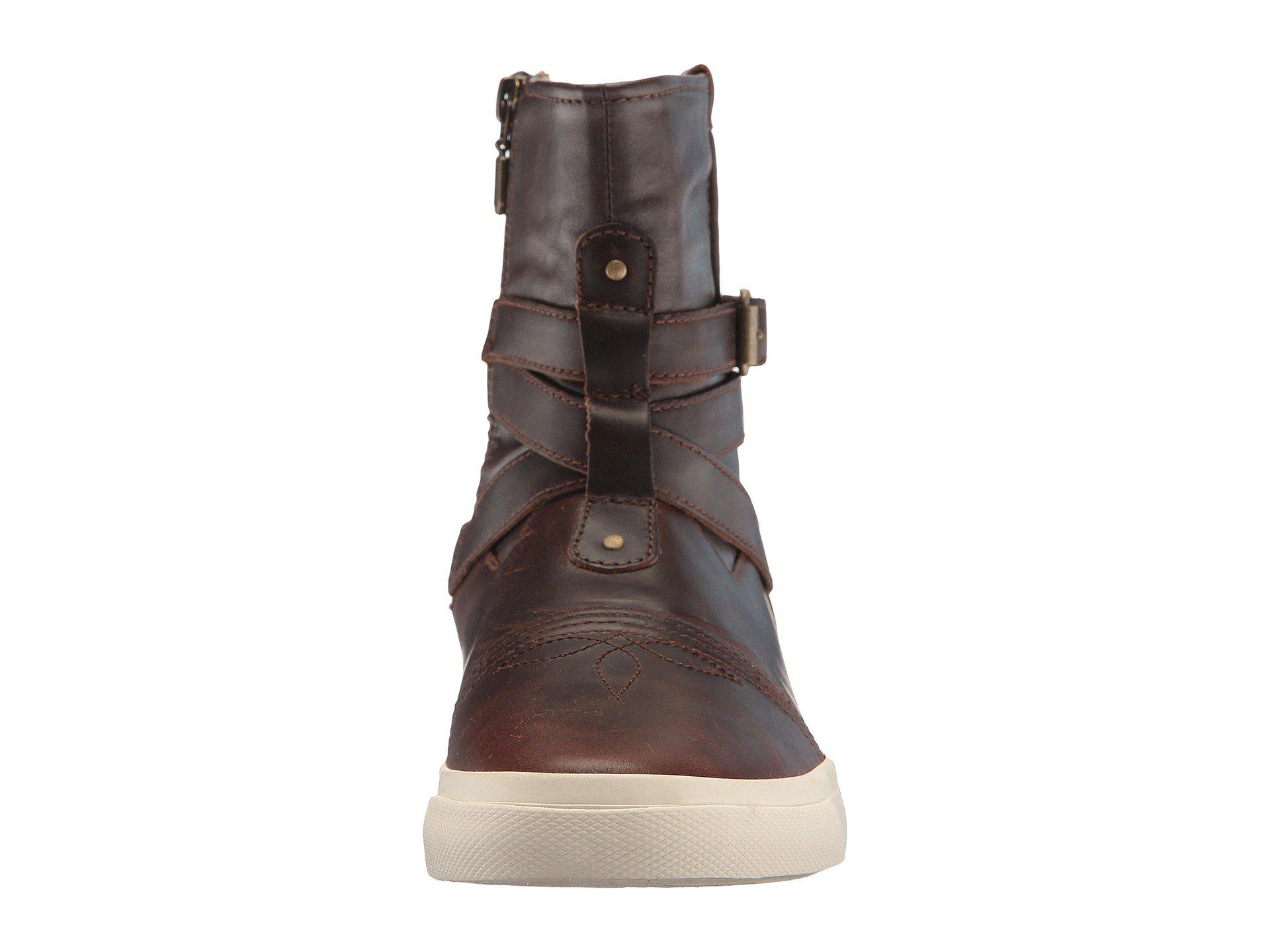 8ce0f92bf2c763 Lyst - Durango Music City Vintage Belted Bootie in Brown