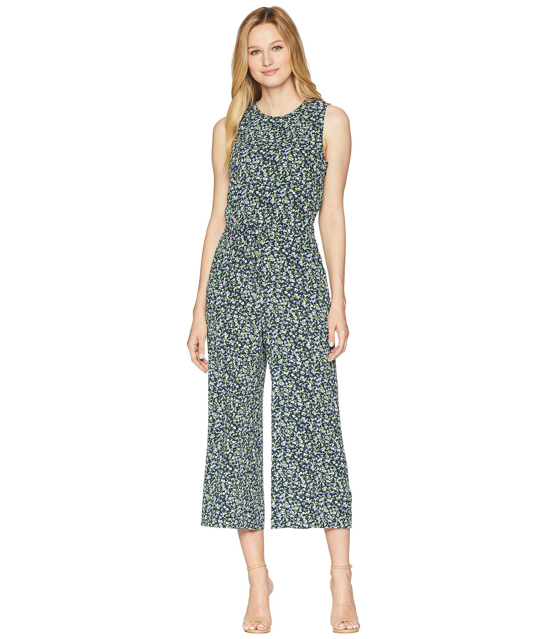 2982d3d7ff2c Lyst - MICHAEL Michael Kors Tiny Wildflower Jumpsuit in Green - Save 26%