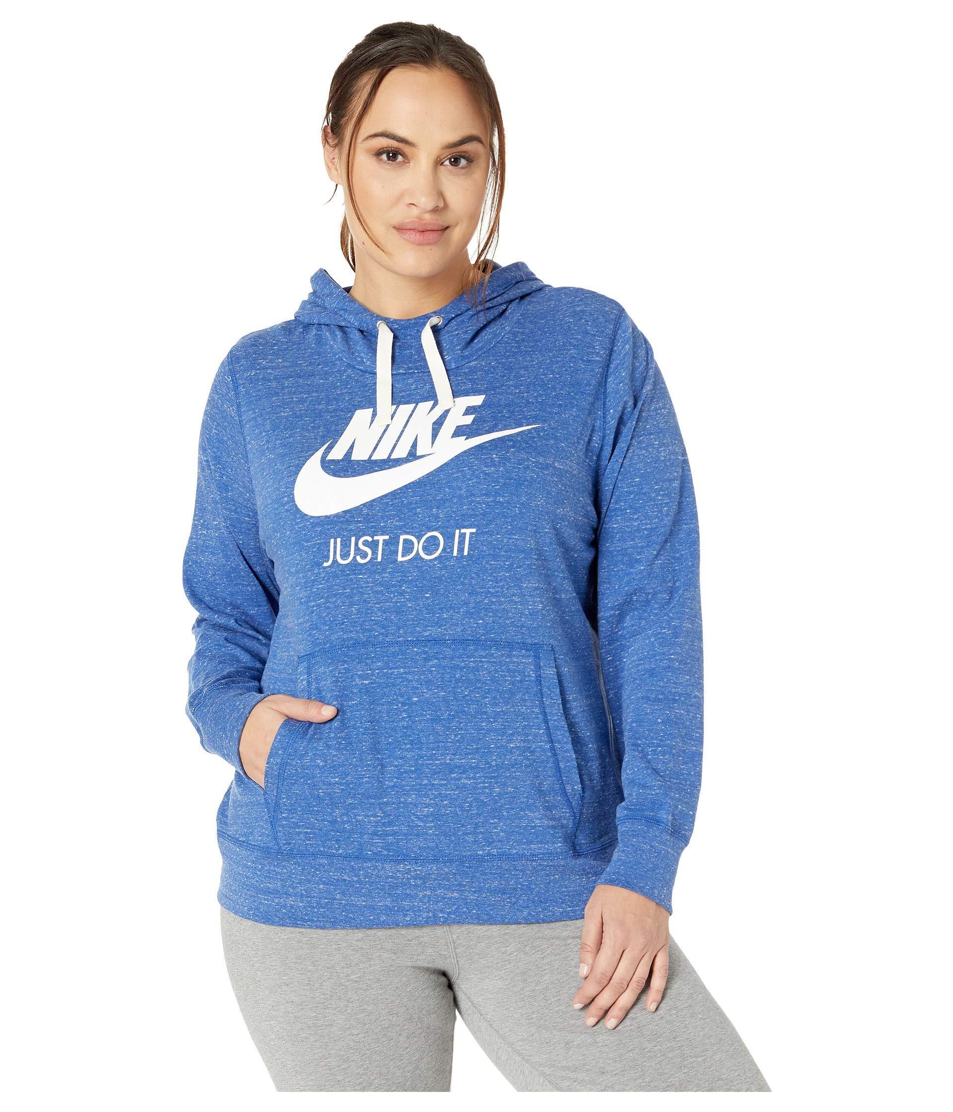 e38b062d7cde Lyst - Nike Plus Size Sportswear Gym Vintage Hoodie Hbr in Blue ...