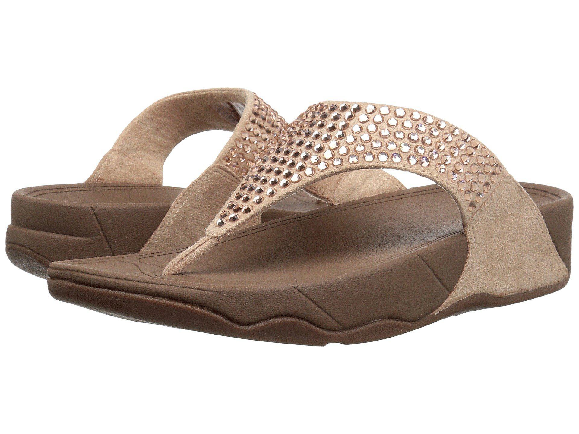 5da22cc93bf84d Lyst - Fitflop Glitzie Toe-thong Sandals