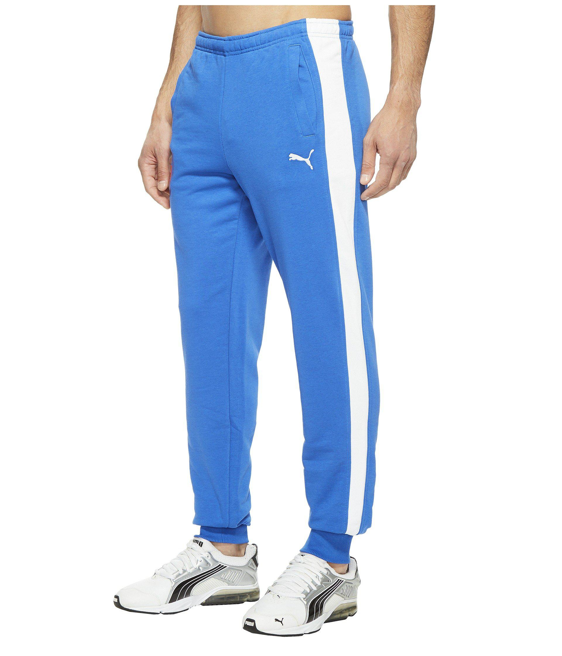 fbb64569dfff Lyst - PUMA Figc Italia Fanwear Cuffed Pants in Blue for Men