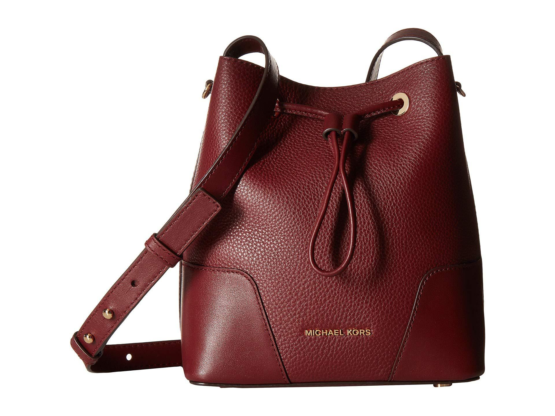 e41a7e3eaf4a7a MICHAEL Michael Kors Cary Small Bucket Bag in Red - Lyst