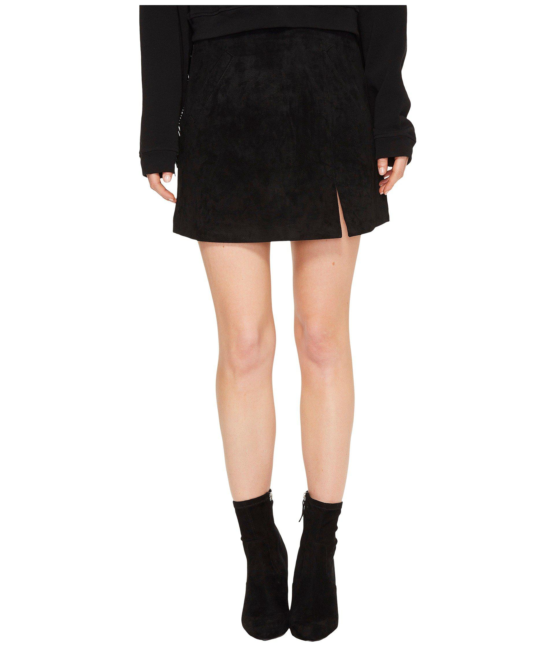 1978add95b Lyst - Blank NYC Suede Mini Skirt In Black/seal The Deal in Black ...