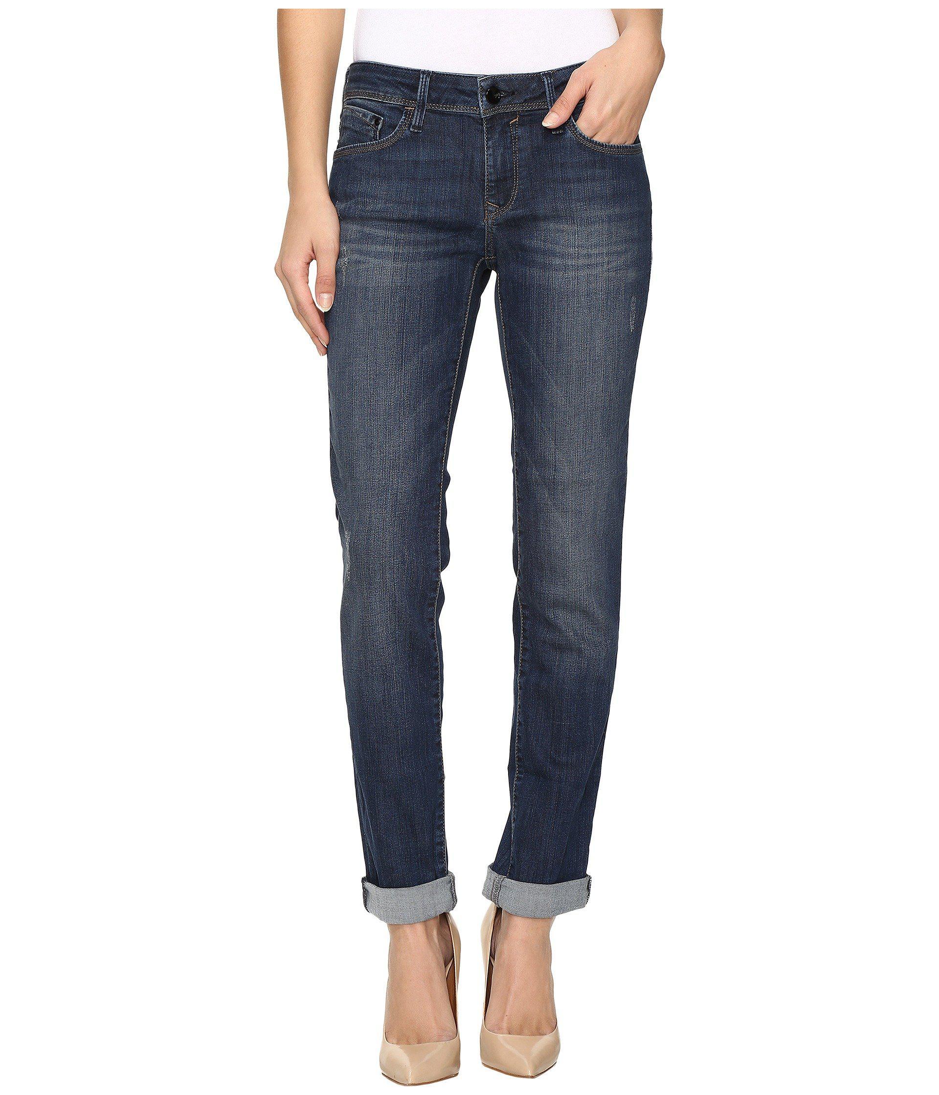 5871864077a Lyst - Mavi Jeans Emma Slim Boyfriend In Deep Indigo Gold in Blue ...