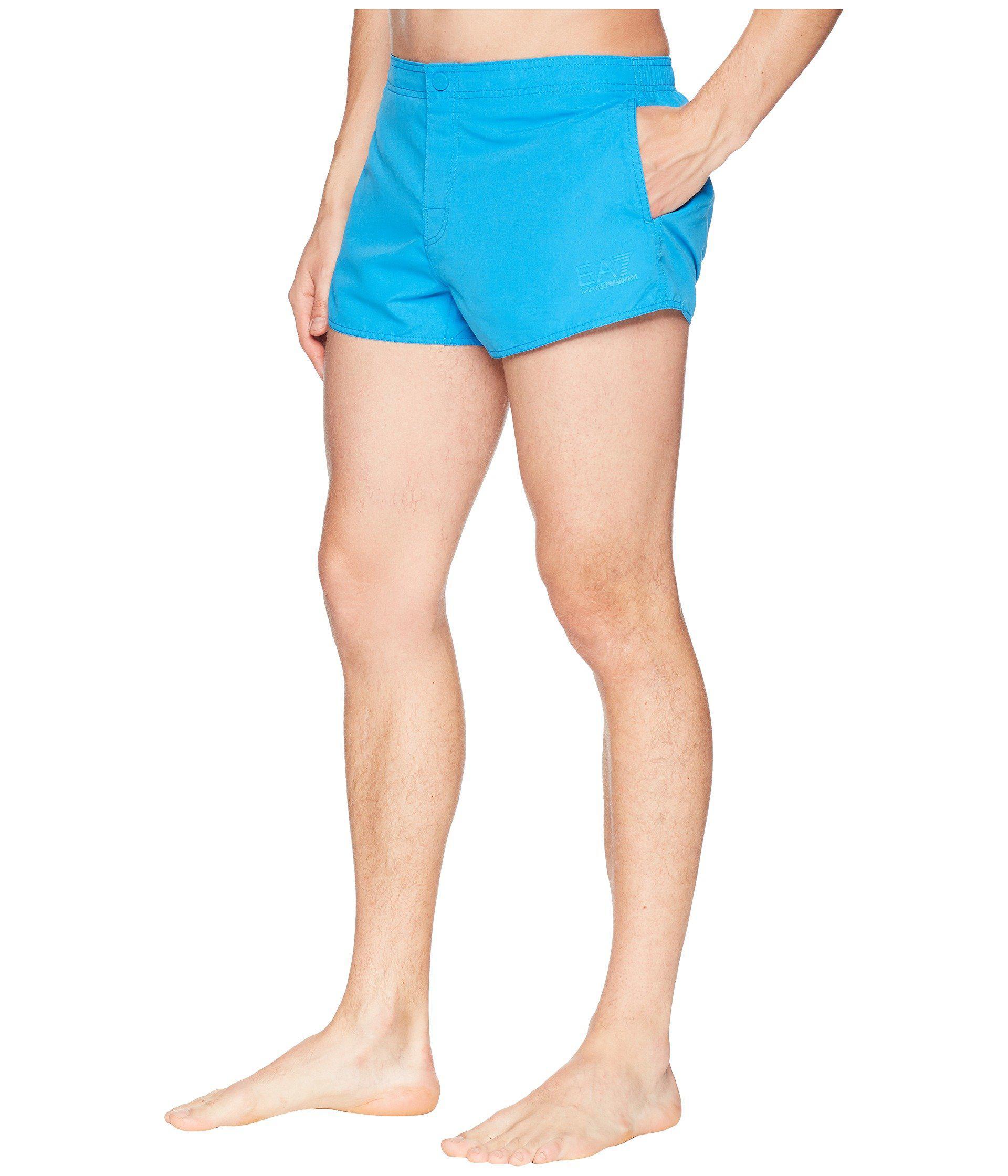 37c5085803 Lyst - Emporio Armani Ea7 Sea World Swim Shorts in Blue for Men - Save 56%