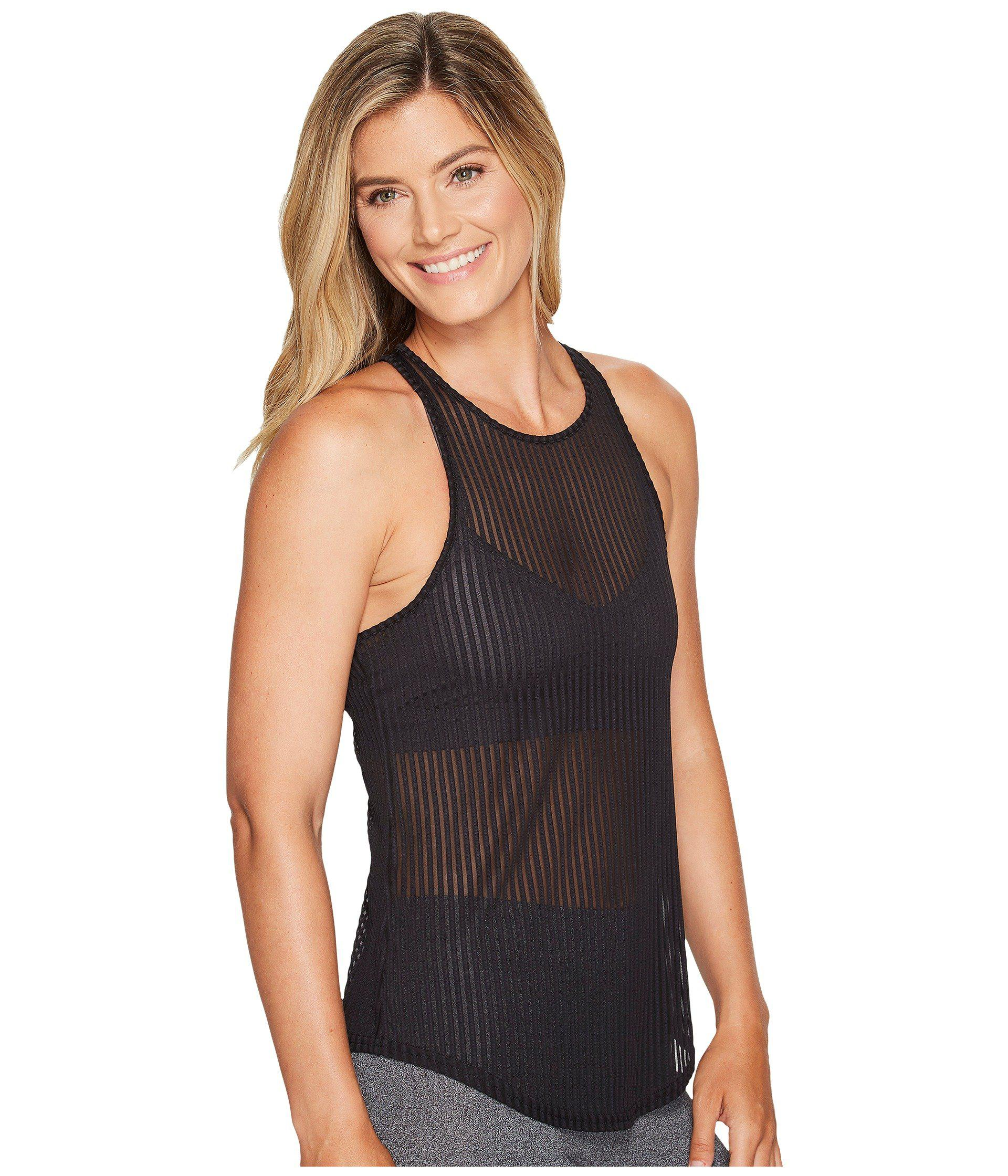 8f4a155ed0 Lyst - Alo Yoga Essence Tank Top in Black