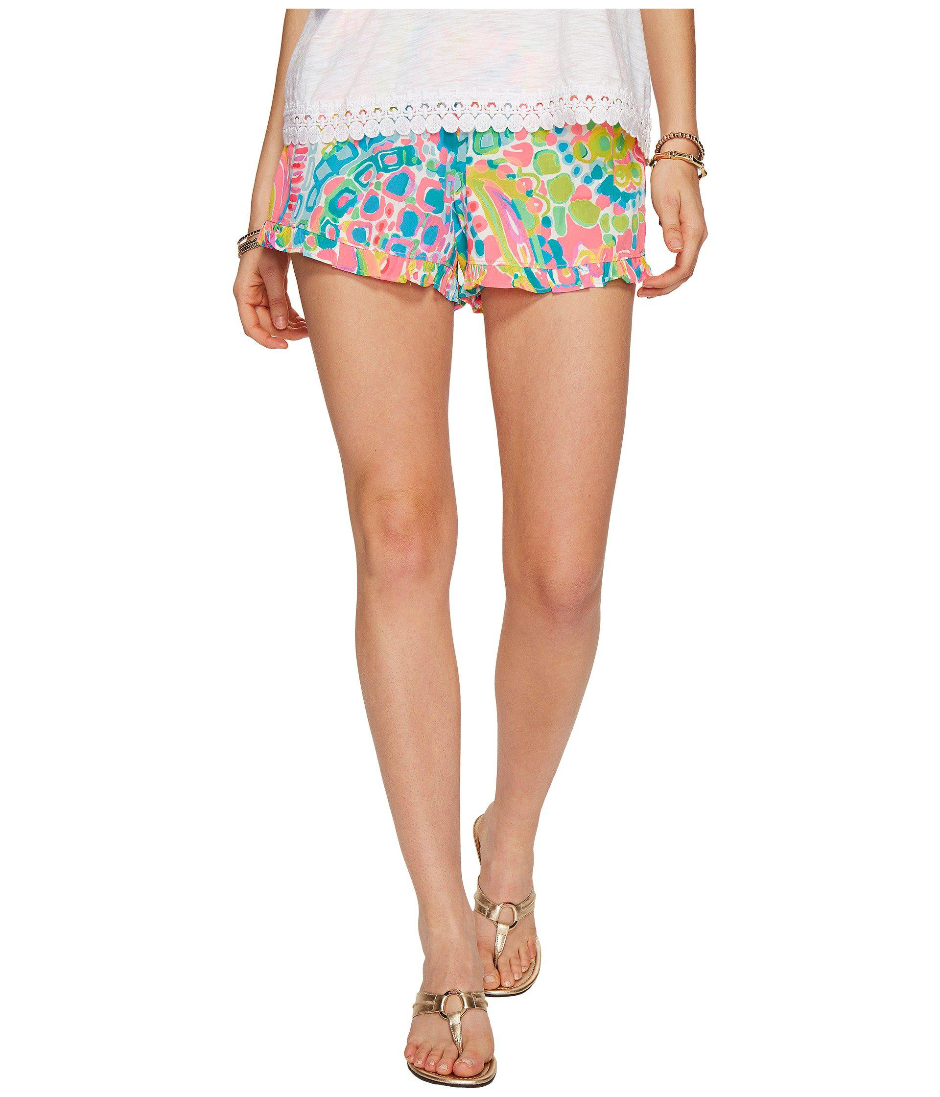 5688ce2f6fe127 Lilly Pulitzer Kya Shorts in Blue - Lyst