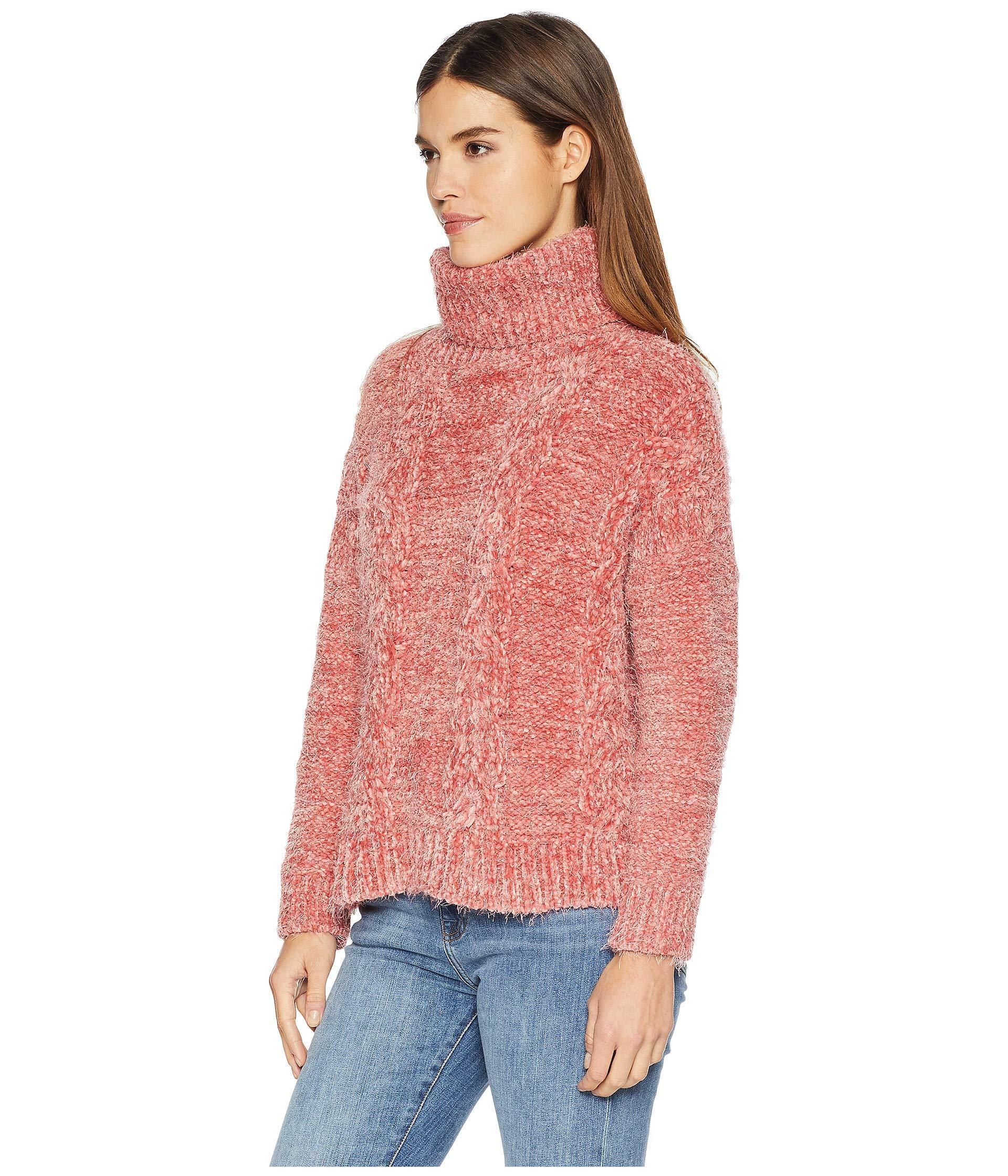 daac4b14bda Jack BB Dakota Eyelash Kisses Chenille Cable Knit Sweater in Pink - Save  10% - Lyst