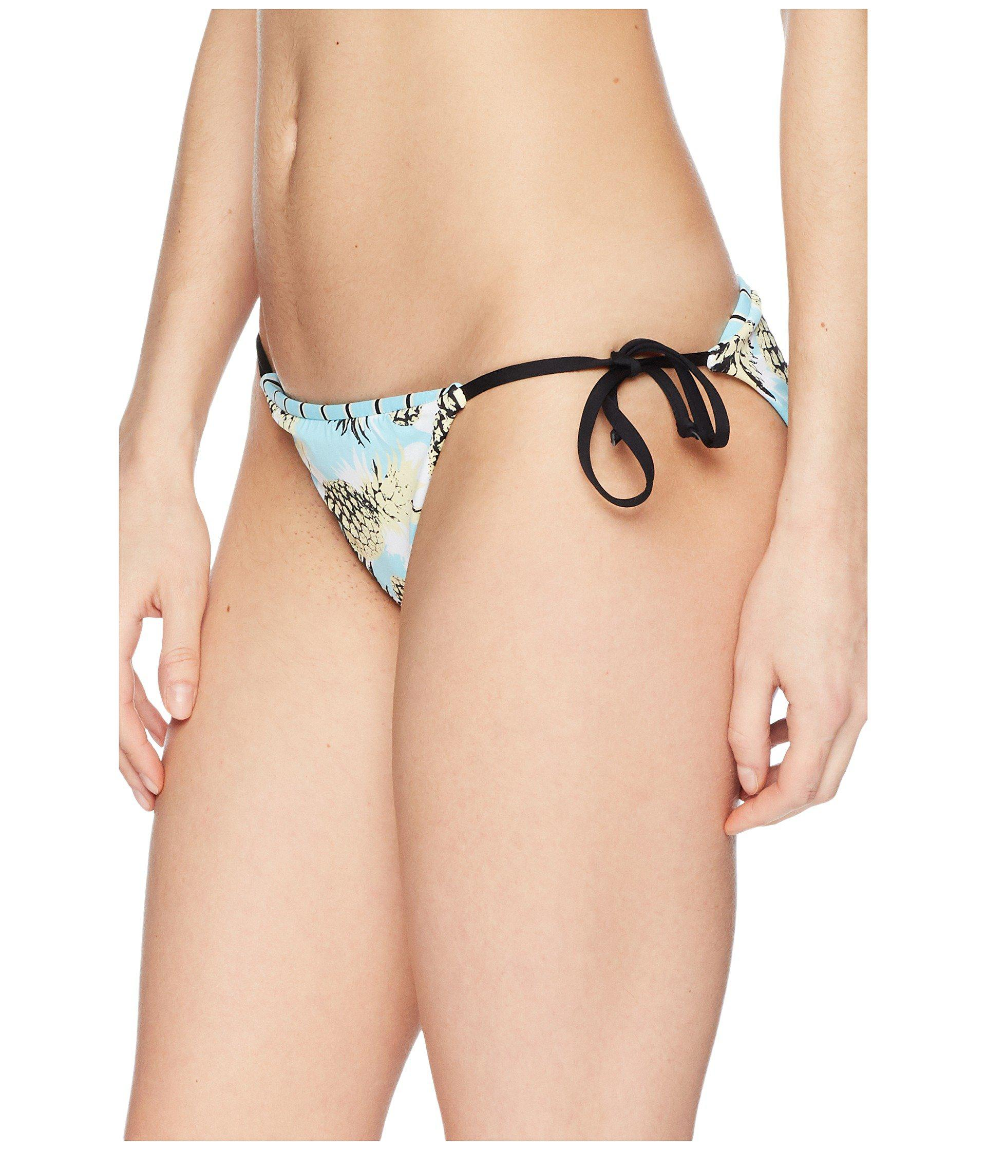 Lyst - The Bikini Lab Pineapple Playa Reversible String Tie Hipster Bottom  - Save 7% 37260b8fa