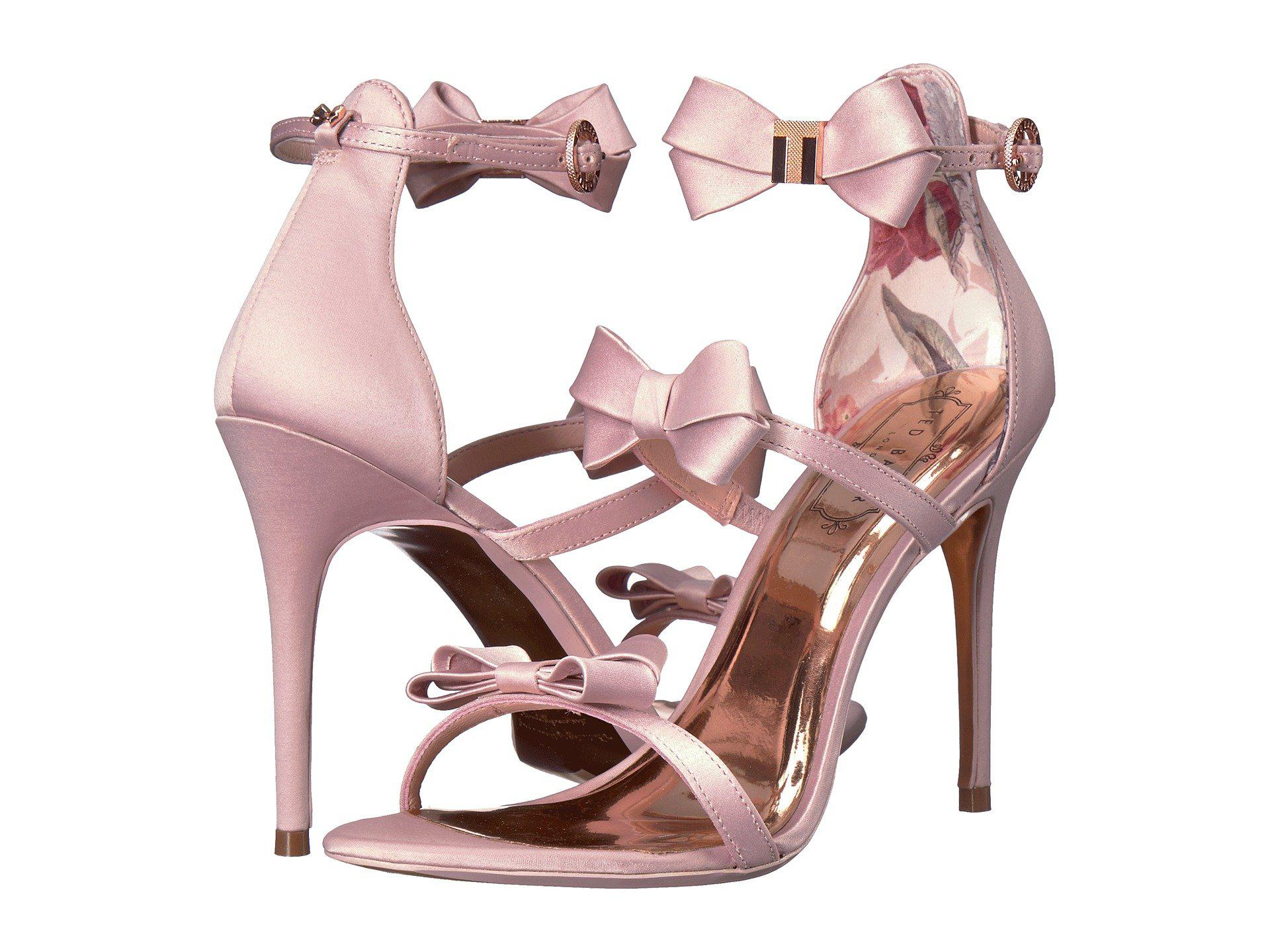 a7a0977ae Lyst - Ted Baker Nuscala Stiletto Sandal in Pink - Save 38%
