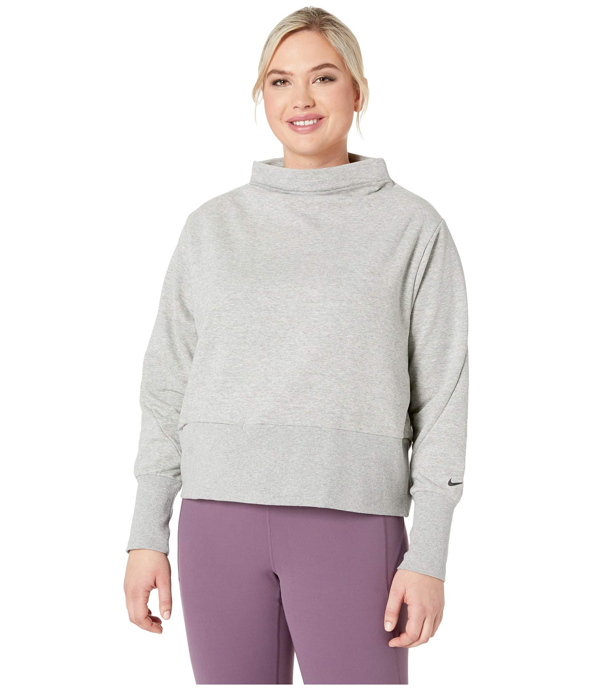 2d7354cfb2e5 Lyst - Nike Studio Mock Neck Versa Pullover (sizes 1x-3x) in Gray ...