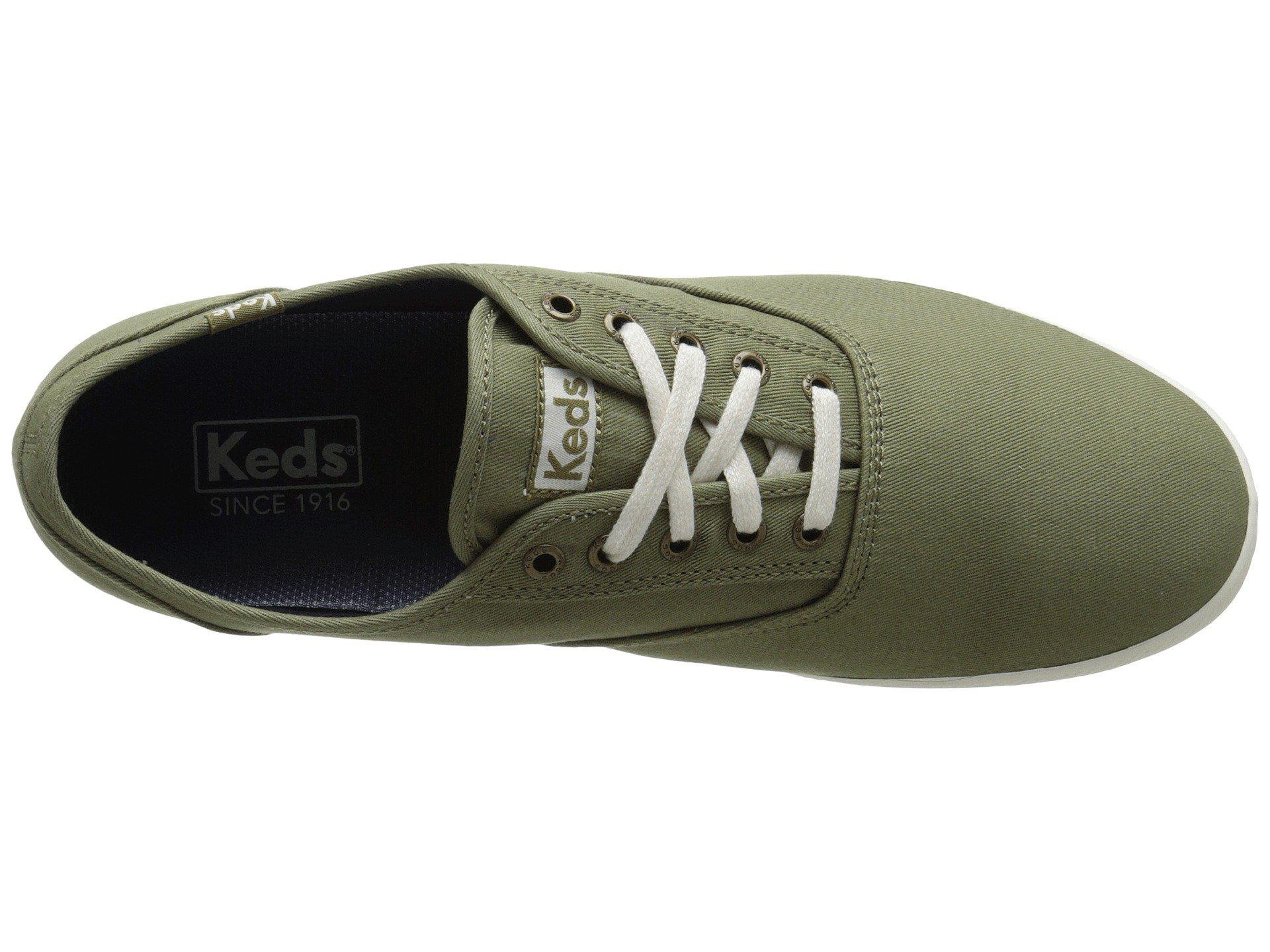 5ffde5e6f0f9e Lyst - Keds Champion Solid Army Twill Sneaker in Green for Men