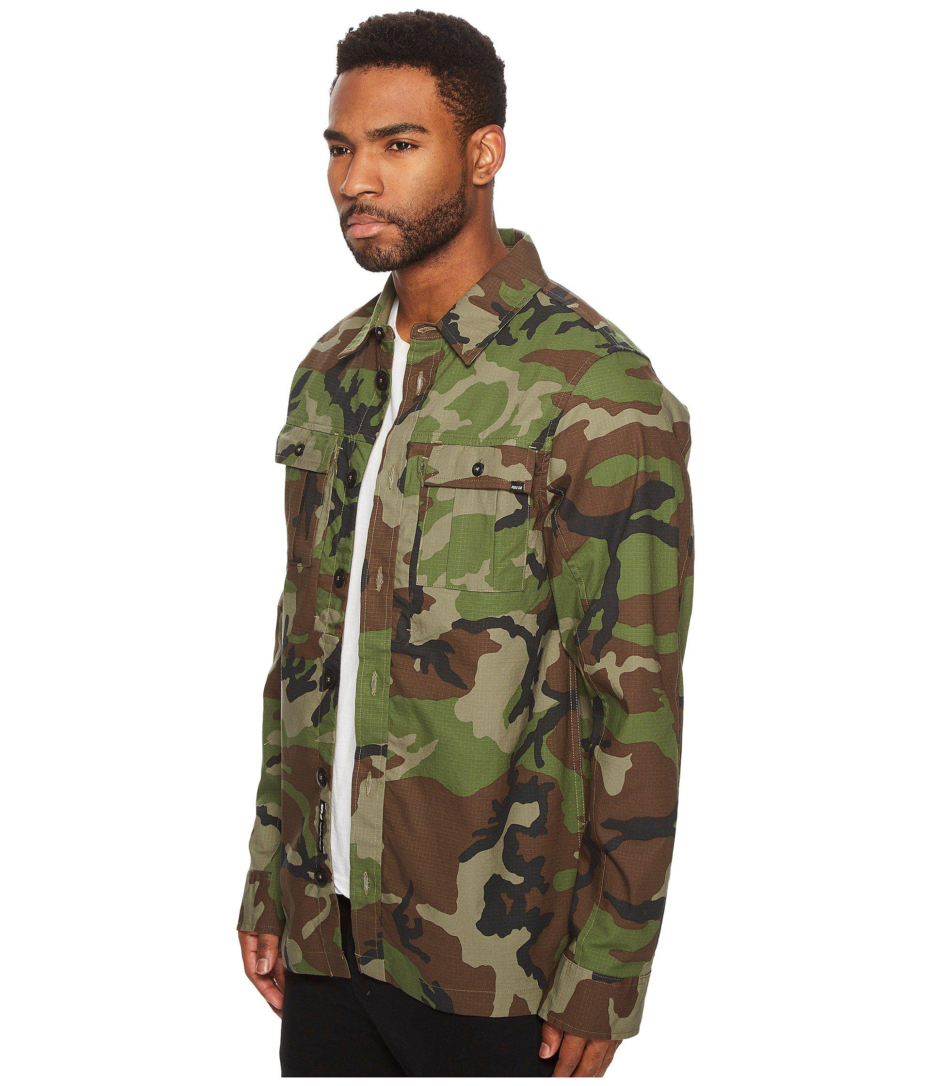 f22e6124765bf Lyst - Nike Sb Flex Holgate Long Sleeve Camo Top in Green for Men