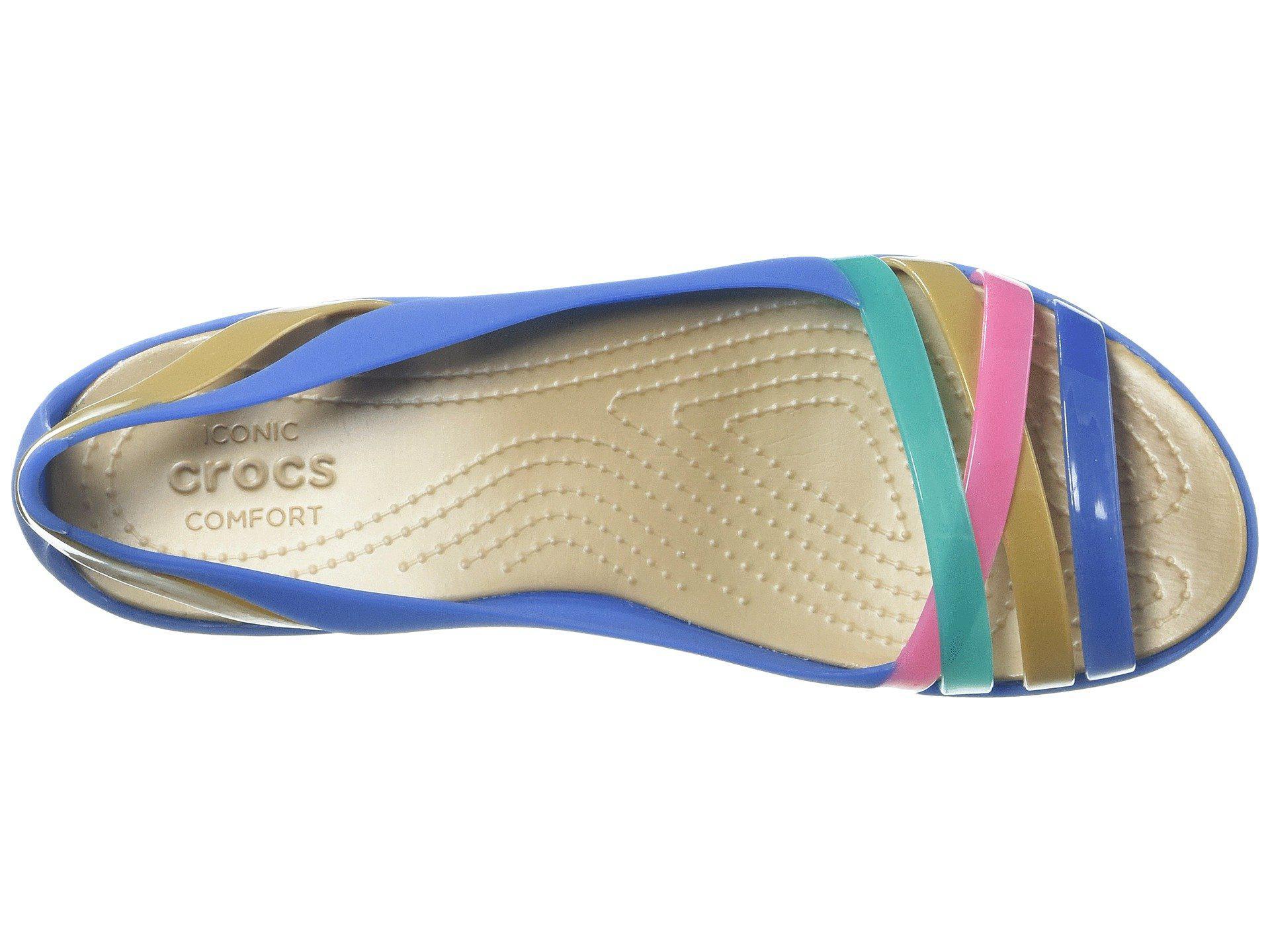 223e97cf108bf Crocs™ - Blue Isabella Huarache 2 Flat - Lyst. View fullscreen