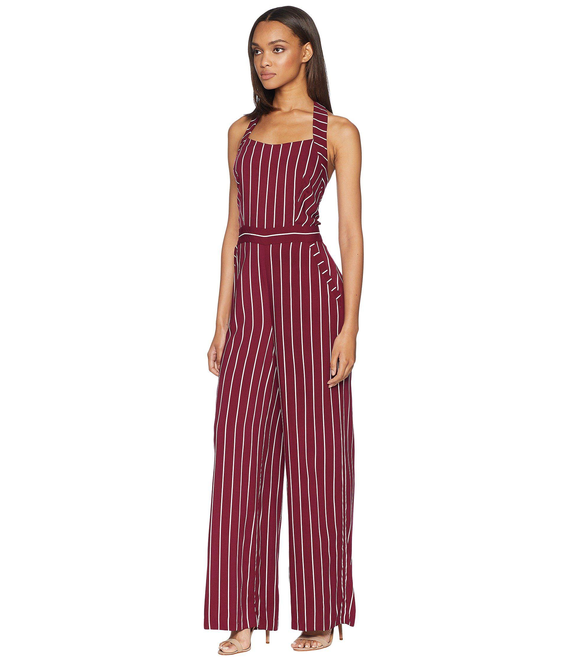 780072a8302 Lyst - Juicy Couture Cindy Stripe Jumpsuit in Red