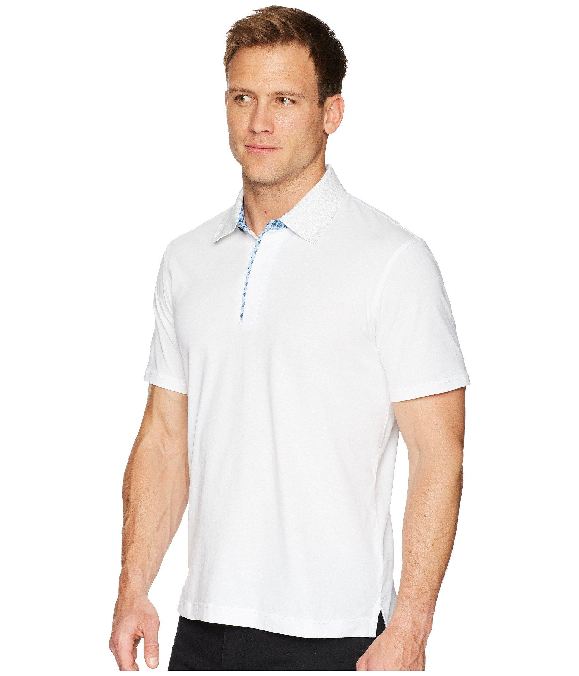 a26a74c1 Lyst - Robert Graham Diego Short Sleeve Knit Polo in White for Men - Save  44%