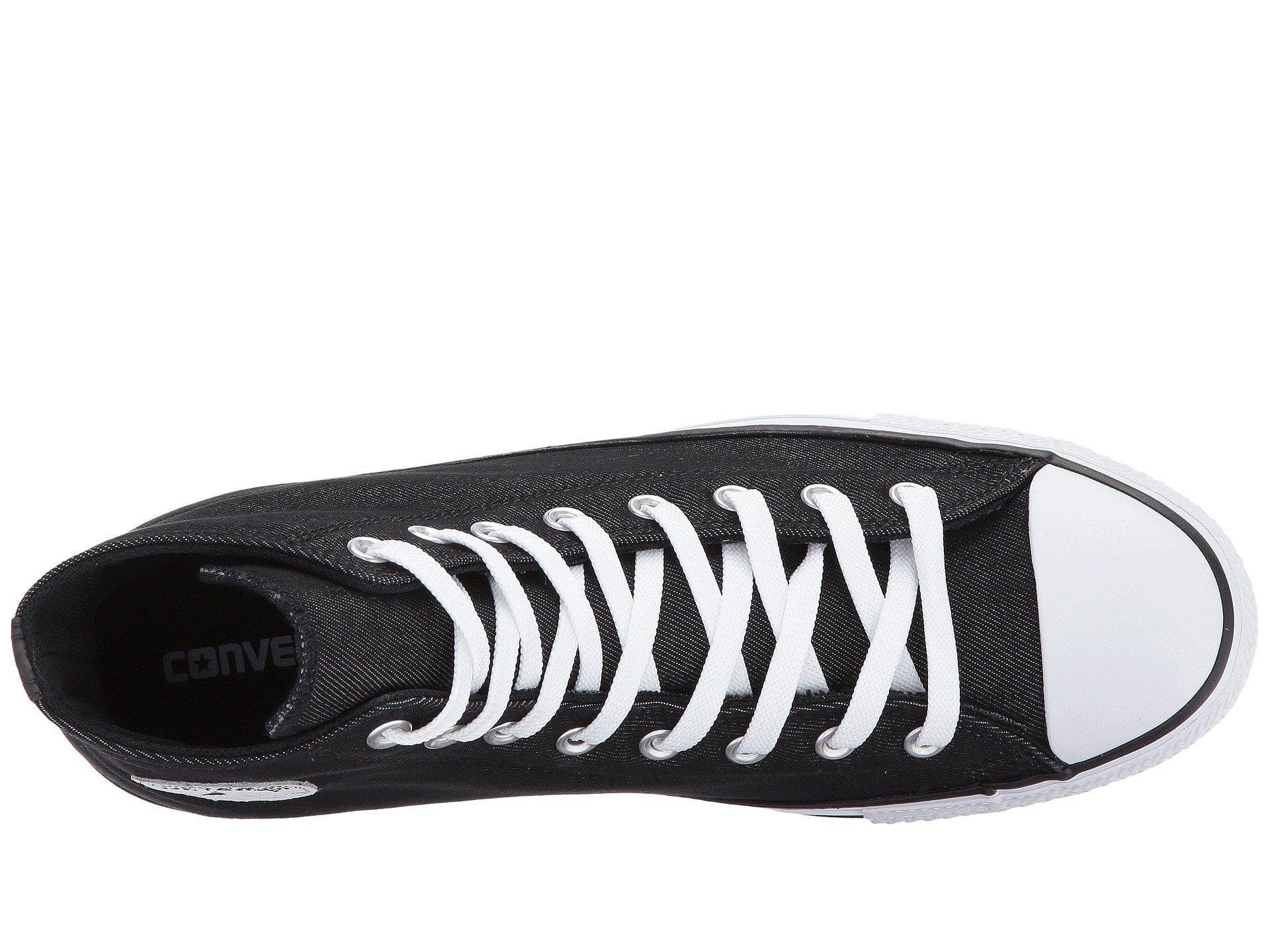 89a202c8d304c2 Lyst - Converse Chuck Taylor® All Star® Premium Twill Hi in Black ...