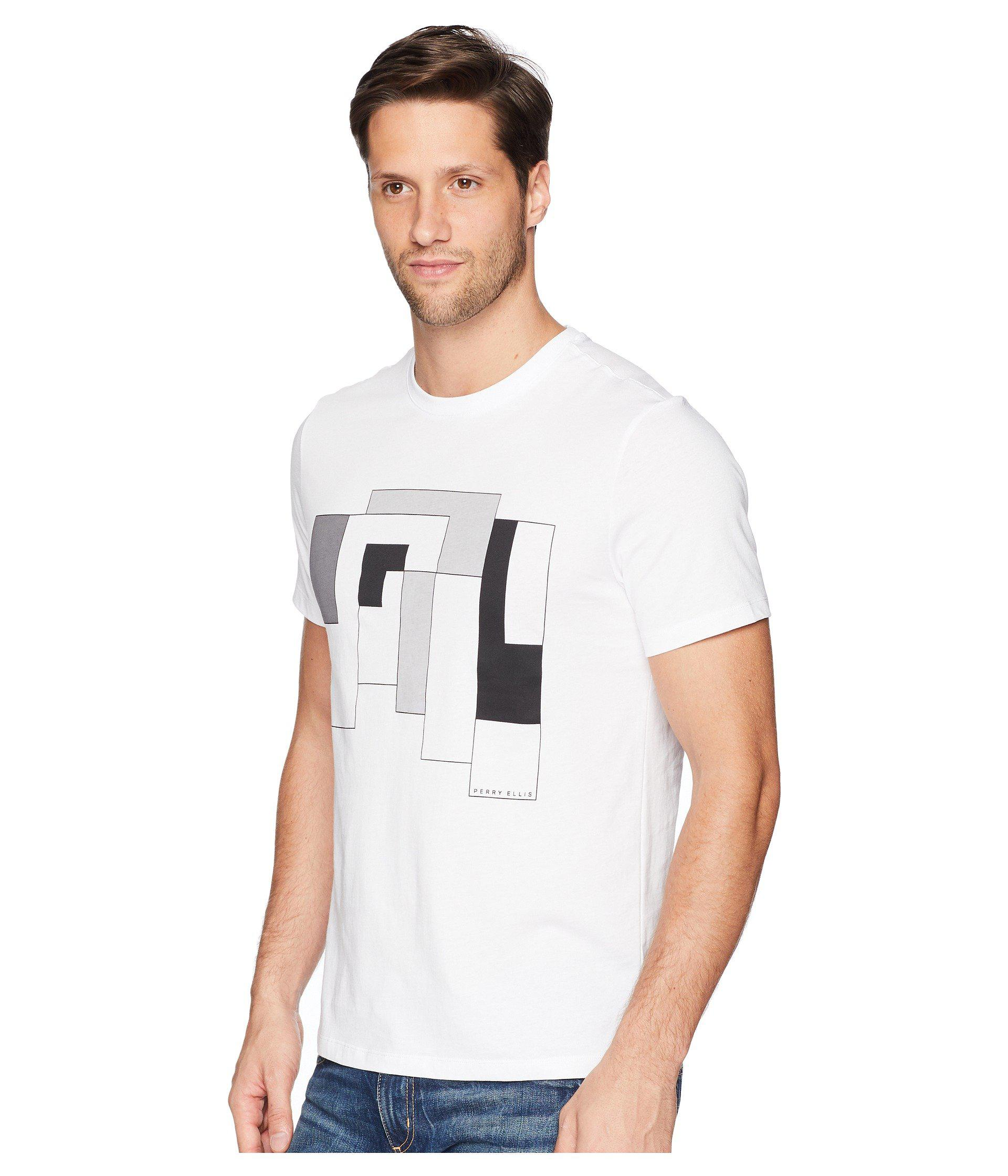 971f8e4e79 Lyst - Perry Ellis Abstract Print T-shirt in Black for Men - Save 48%