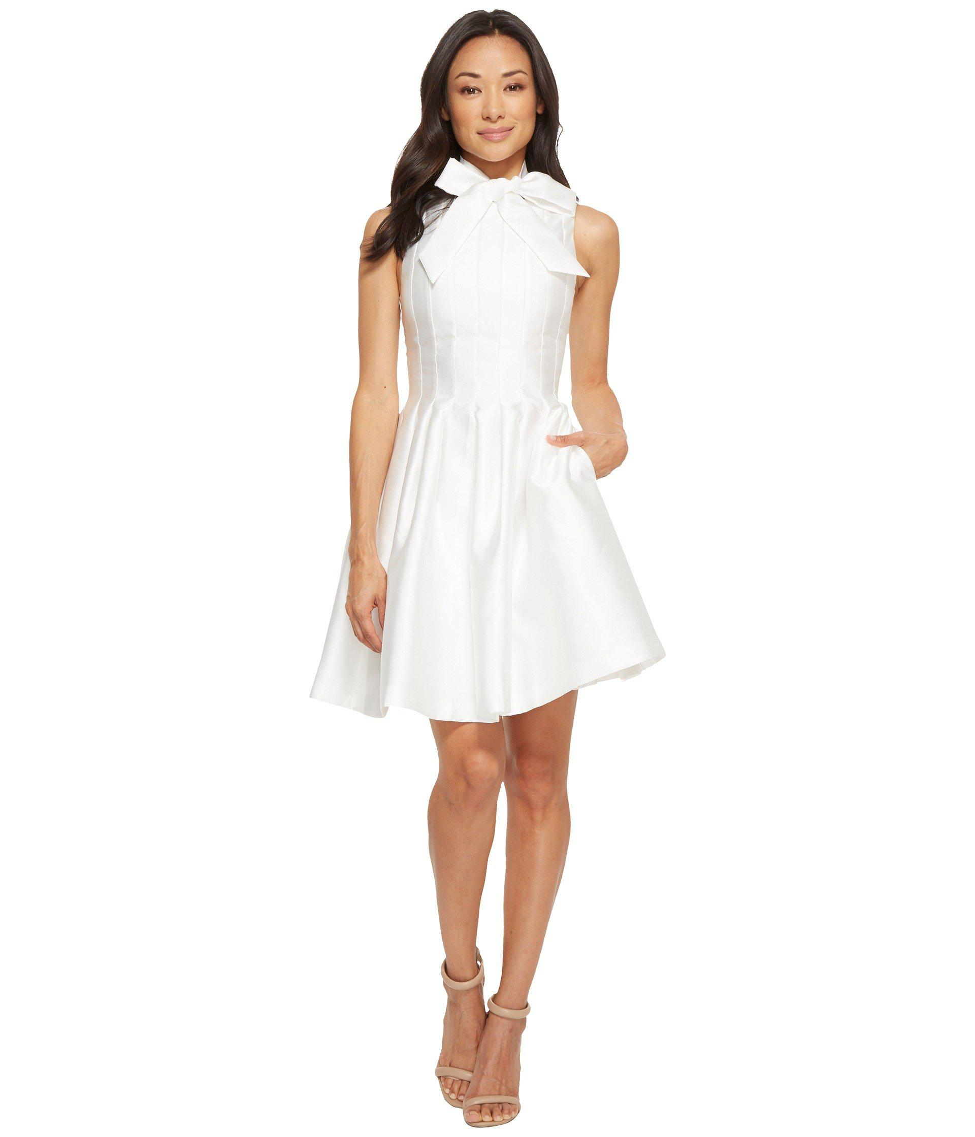 3aebb51700e Lyst - Ted Baker Doora Bow Tie Neck A-line Dress in Natural