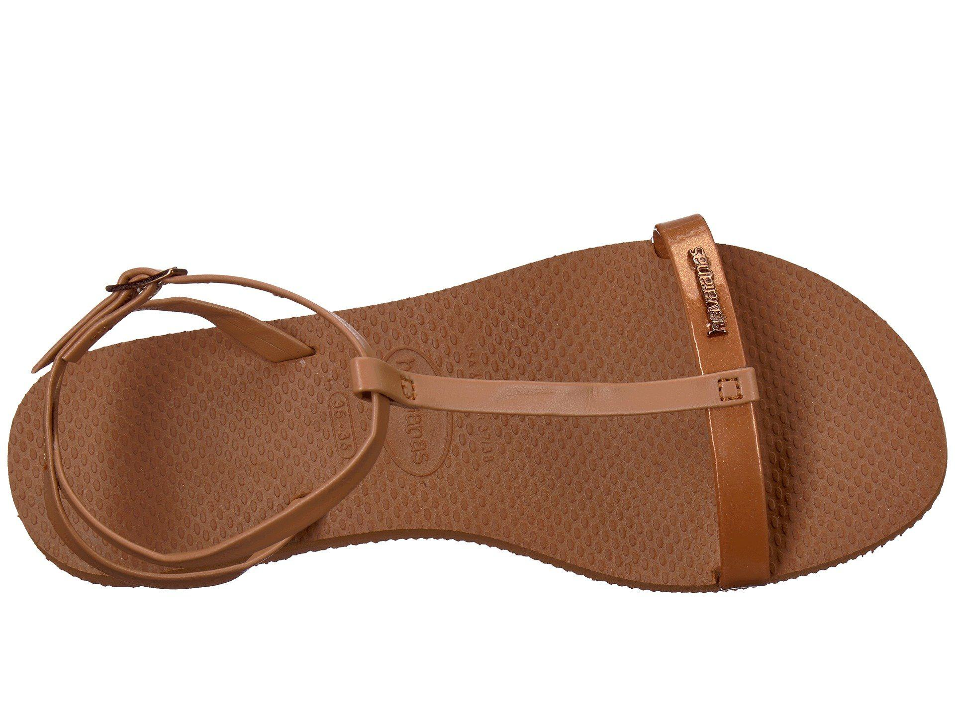 220d9a1e281390 Havaianas - Brown You Belize Flip Flops - Lyst. View fullscreen