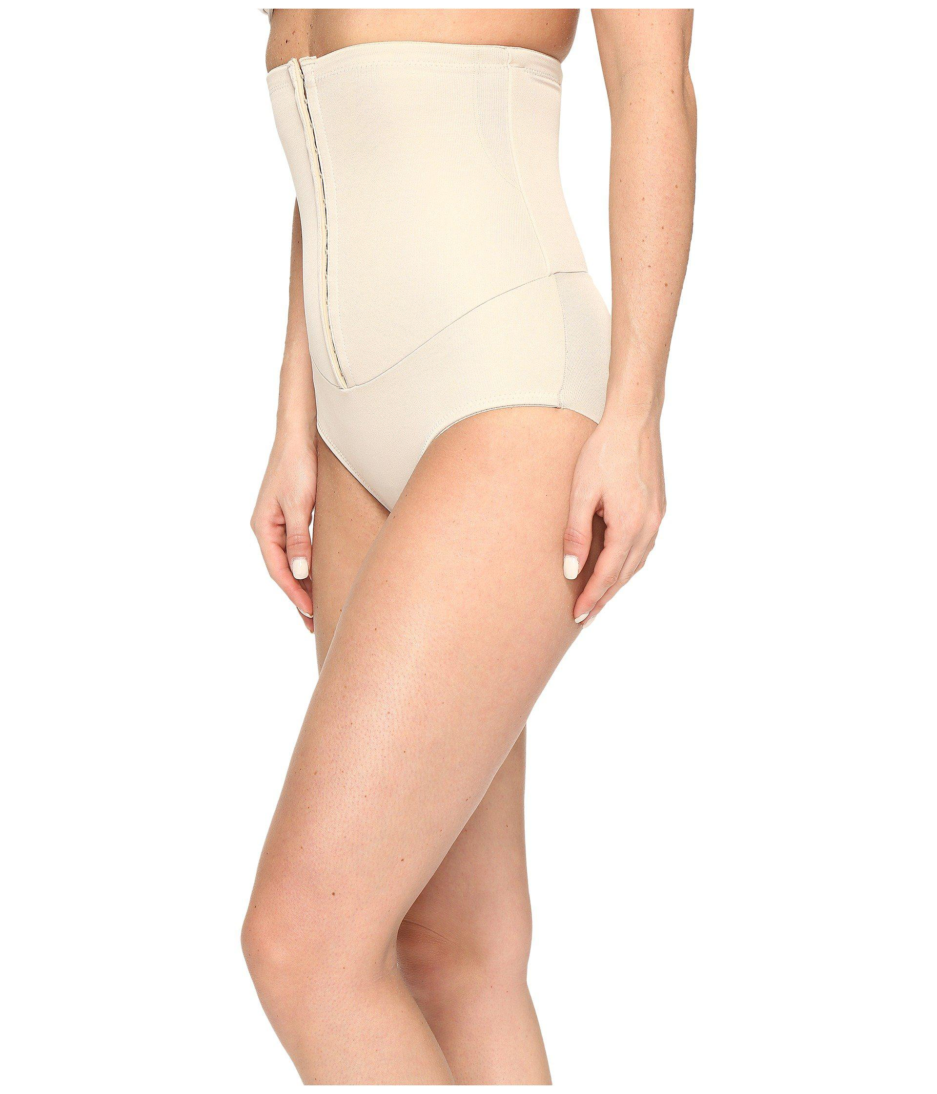 b723d1b16 Lyst - Miraclesuit Inches Off Hook   Eye Waist Cinching Brief in Natural