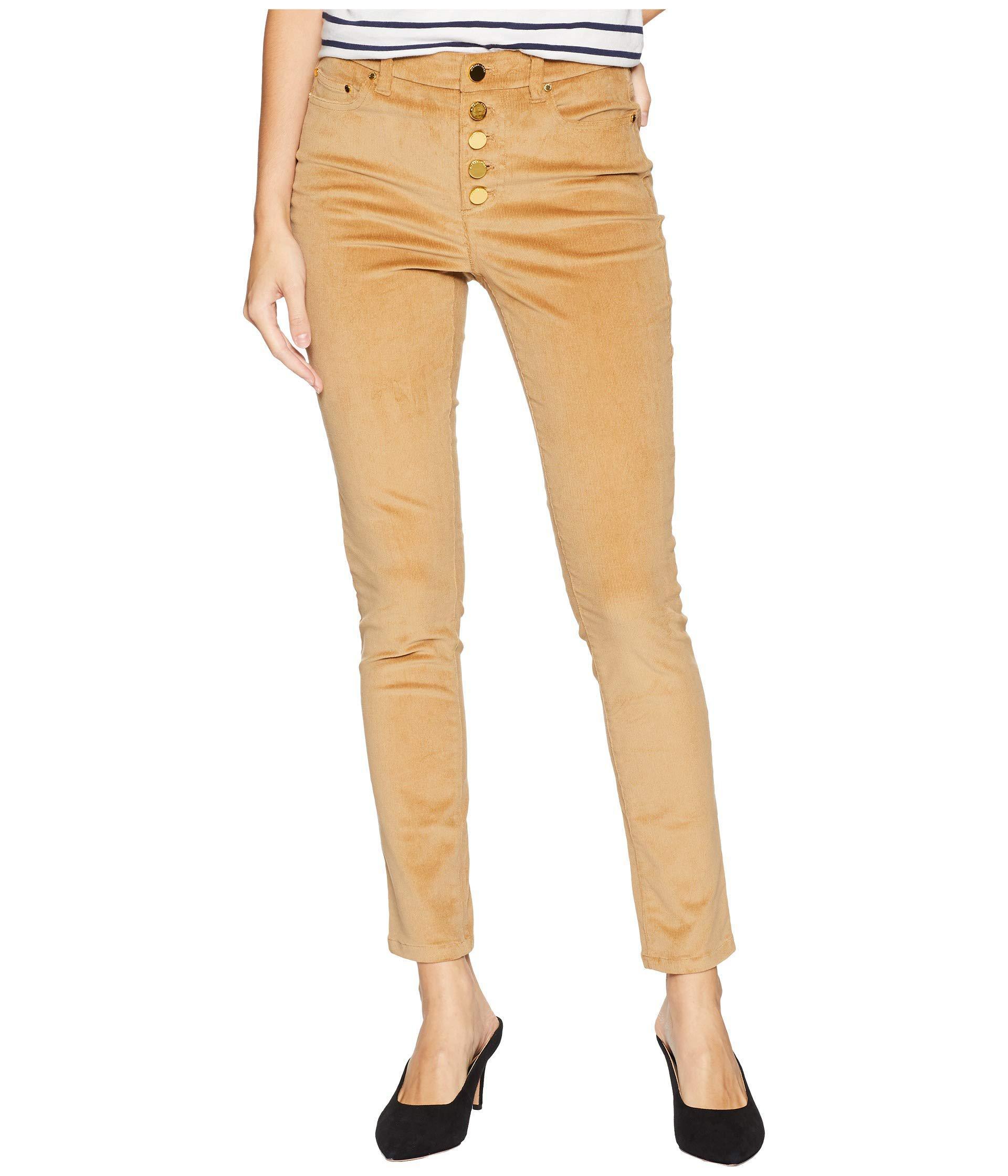 8b0c6de7d9c MICHAEL Michael Kors. Women s Natural Button Front Hardware Skinny Pants ...