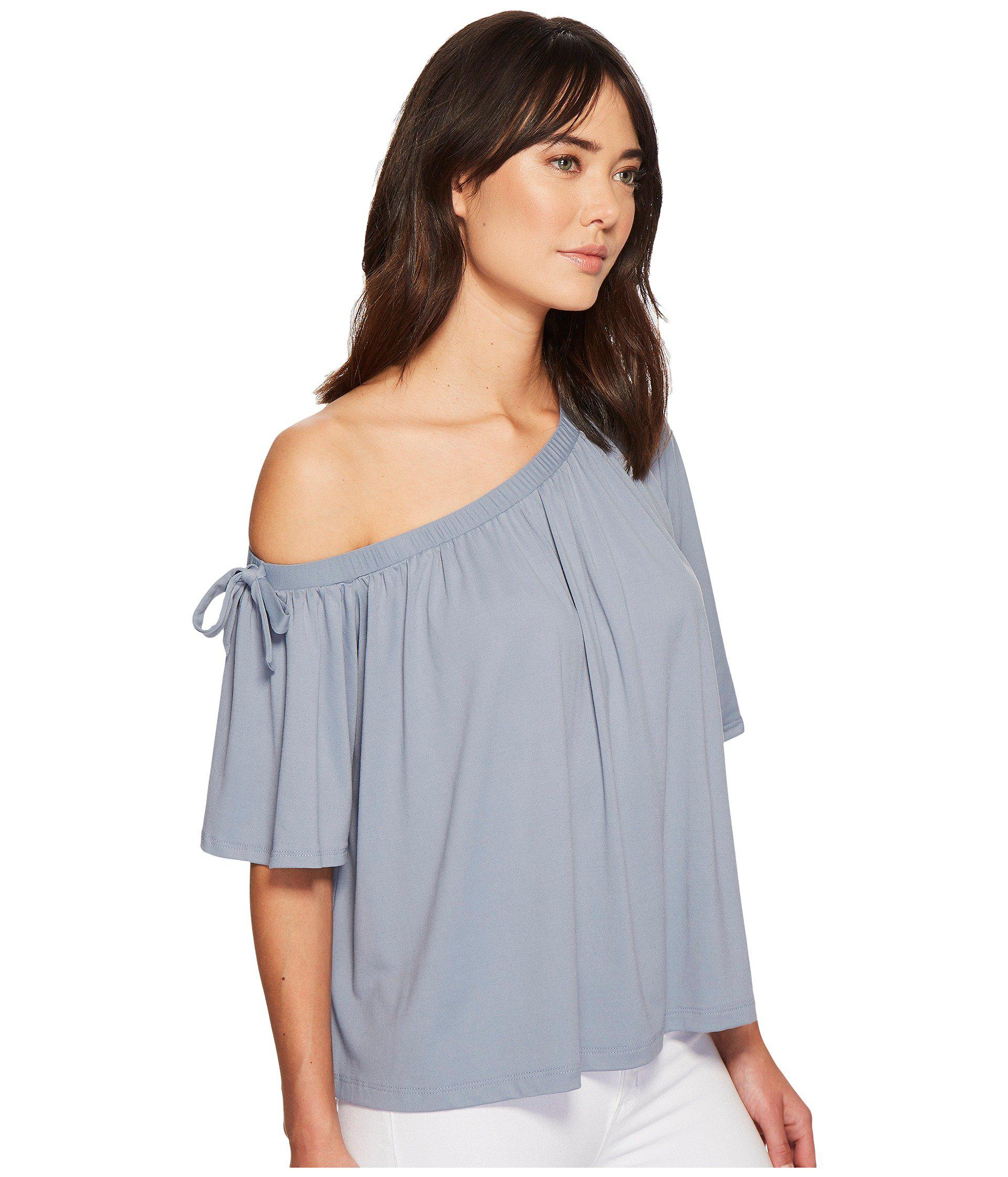 e7d02cef32d86 Susana Monaco - Gray Kerena Off Shoulder Gathered Top - Lyst. View  fullscreen