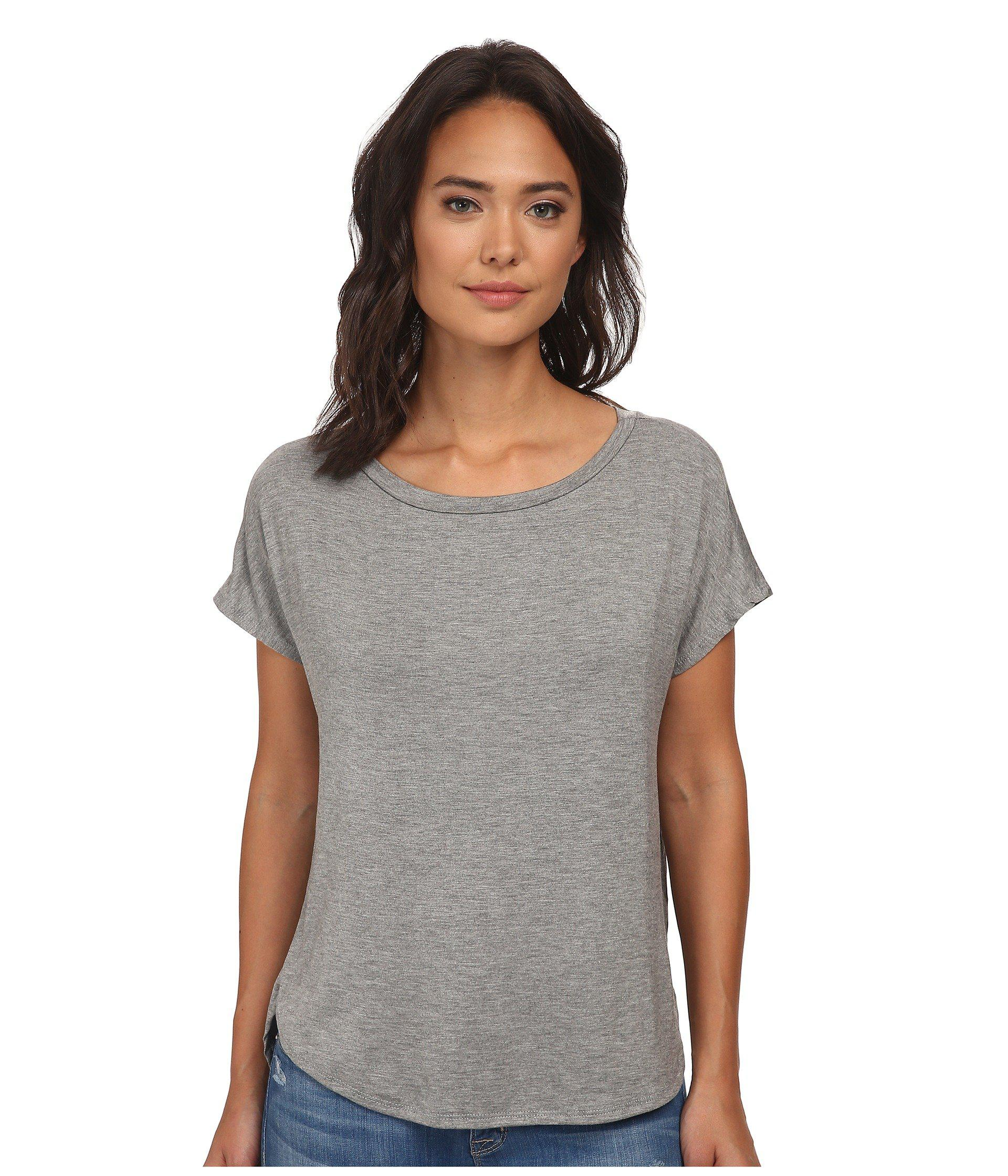 e52a910f91526 Lyst - Culture Phit Karyn Short Sleeve Comfy Top in Gray