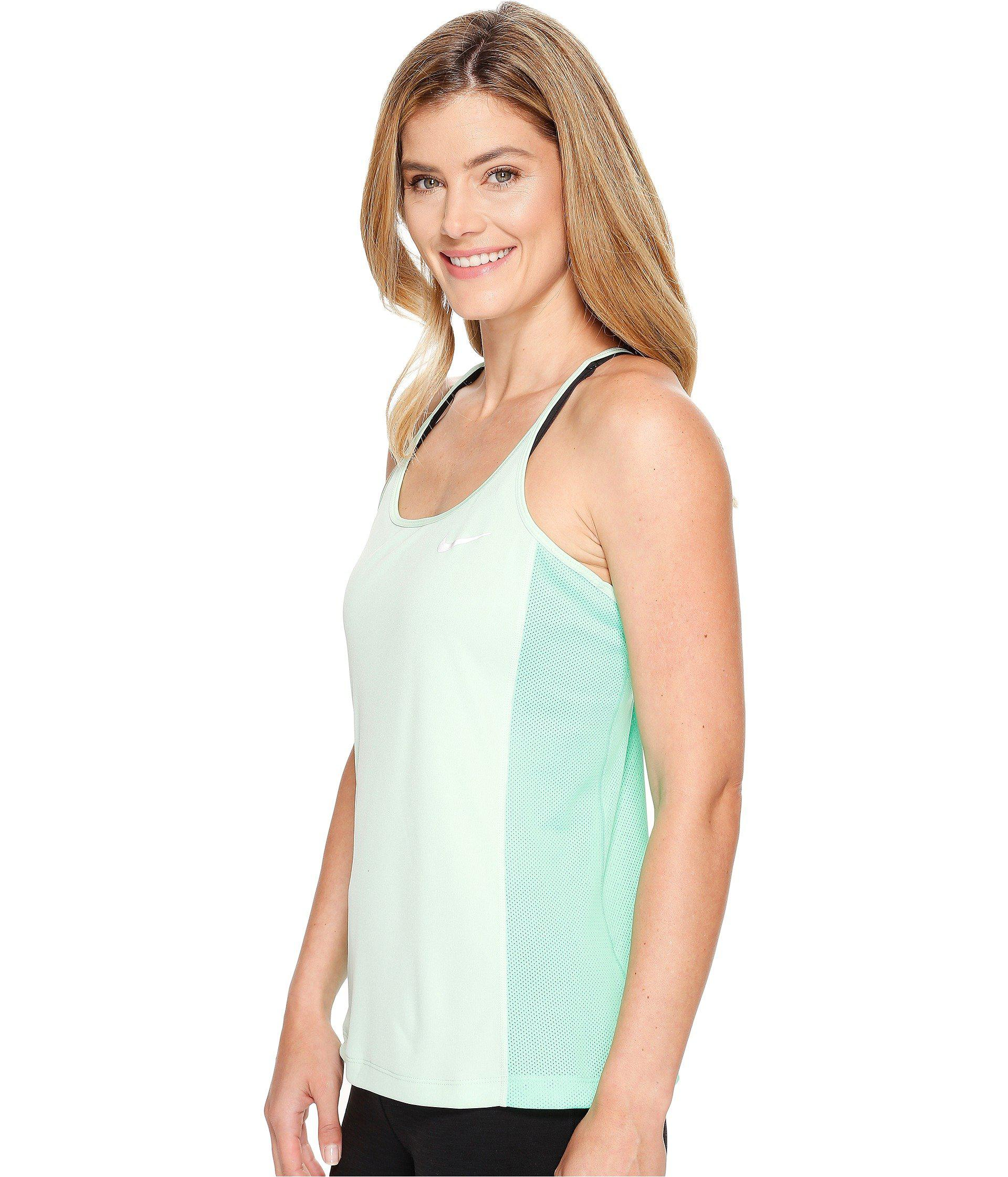 af10bf09d083d Lyst - Nike Dry Miler Running Tank in Green - Save 45%